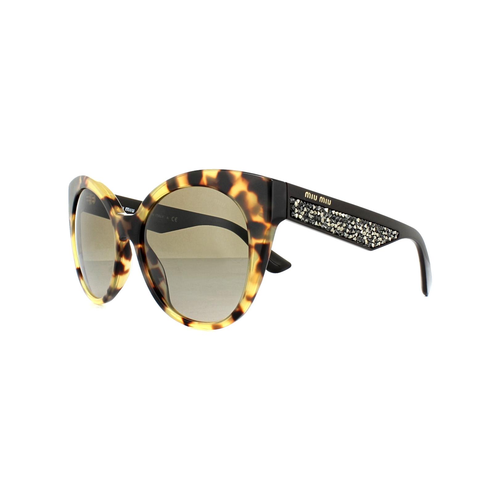 ddc1f299c27 Sentinel Miu Miu Sunglasses 07RS 7S01X1 Light Havana Brown Gradient
