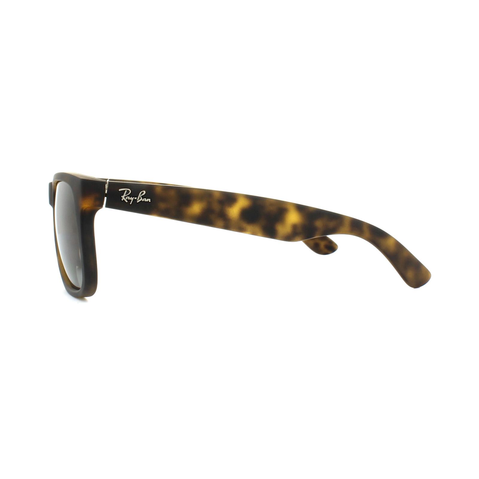 b21d6bc743 Sentinel Ray-Ban Sunglasses Justin 4165 865 T5 Matt Havana Brown Gradient  Polarized Large