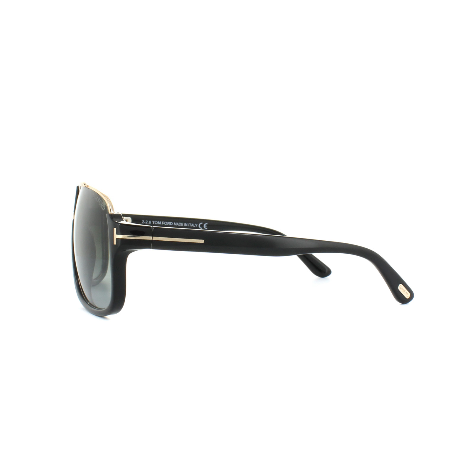 Sentinel Tom Ford Sunglasses 0335 Elliot 01P Shiny Black Green Gradient 31bd213c87