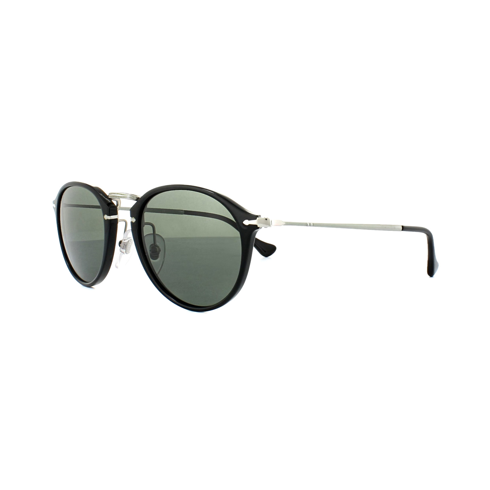 12865560923c4 Persol Sunglasses 3046 95 58 Black Green Polarized 8053672000443