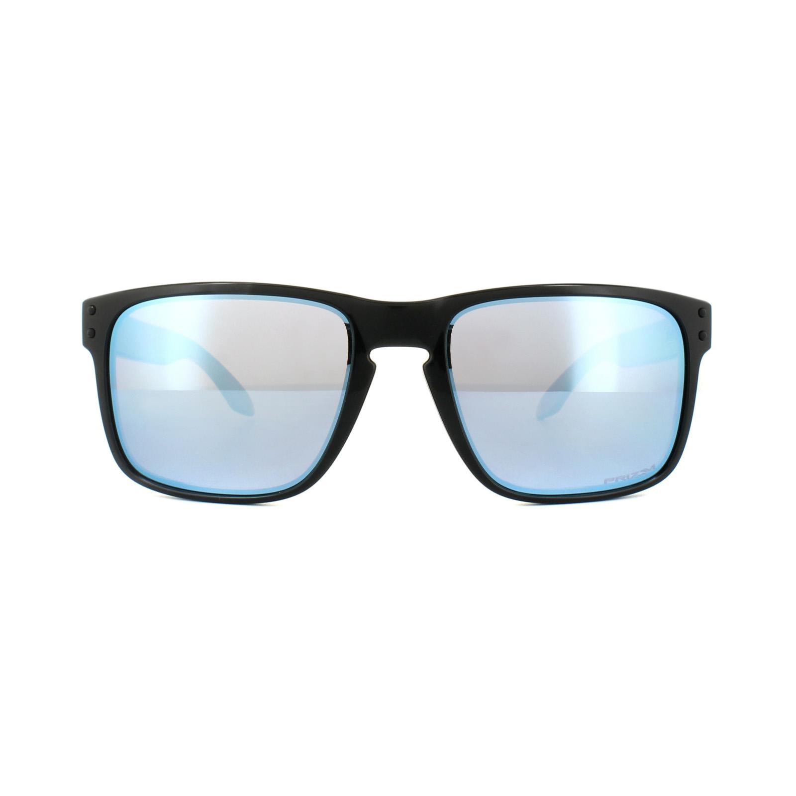 Oakley Holbrook OO9102 C1 57 polished black / prizm deep H2O polarized VVGCQJ