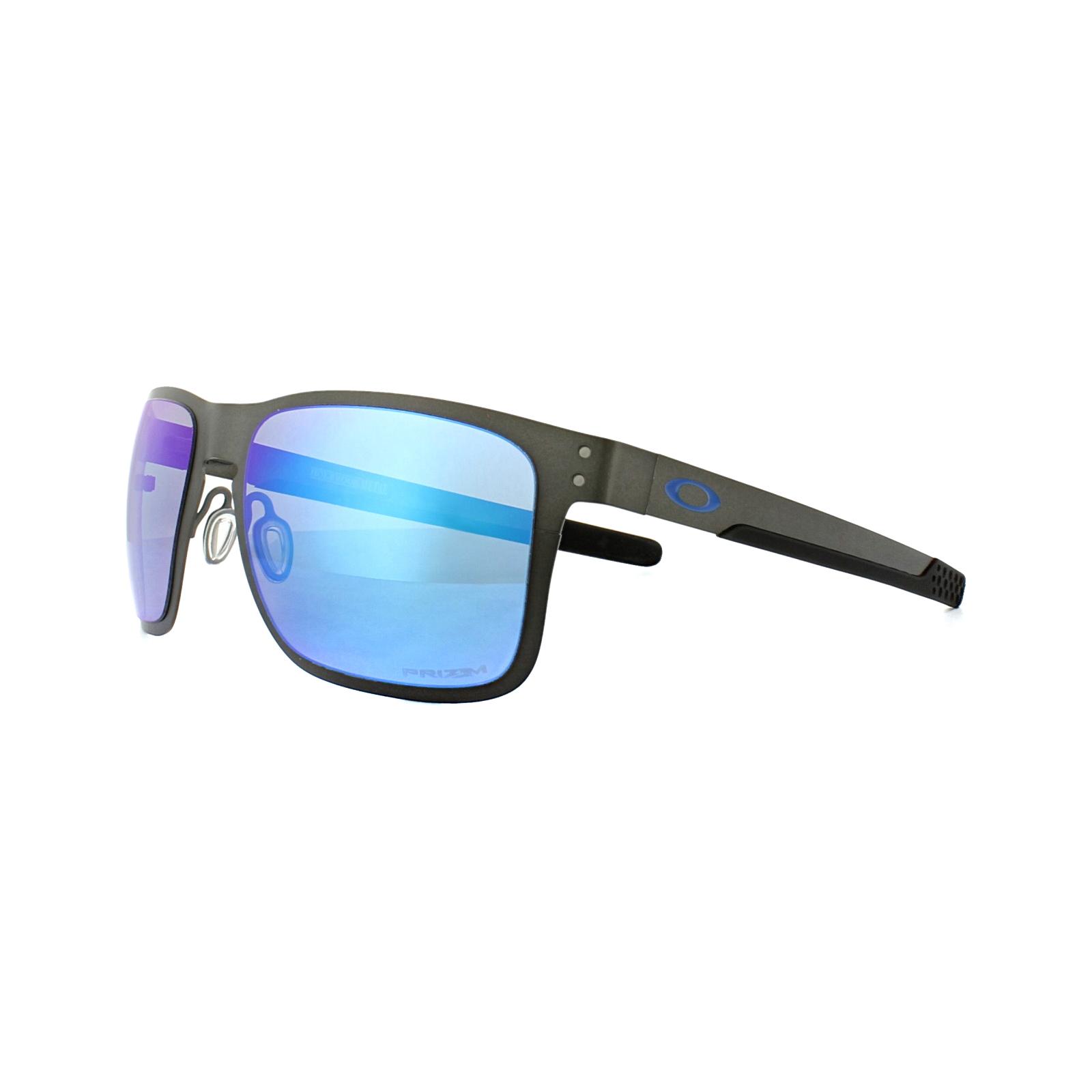 6cc66cda9df Sentinel Oakley Sunglasses Holbrook Metal OO4123-07 Gunmetal Prizm Sapphire  Polarized