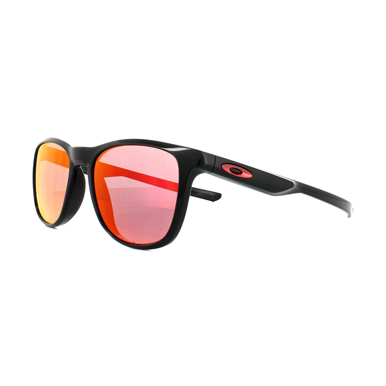 abf40baf77 Sentinel Oakley Sunglasses Trillbe X OO9340-02 Polished Black Ruby Iridium