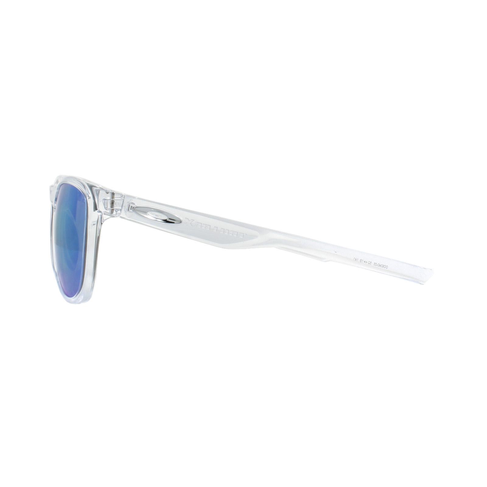 4bc6c1cd63 Sentinel Oakley Sunglasses Trillbe X OO9340-05 Polished Clear Sapphire  Iridium Polarized