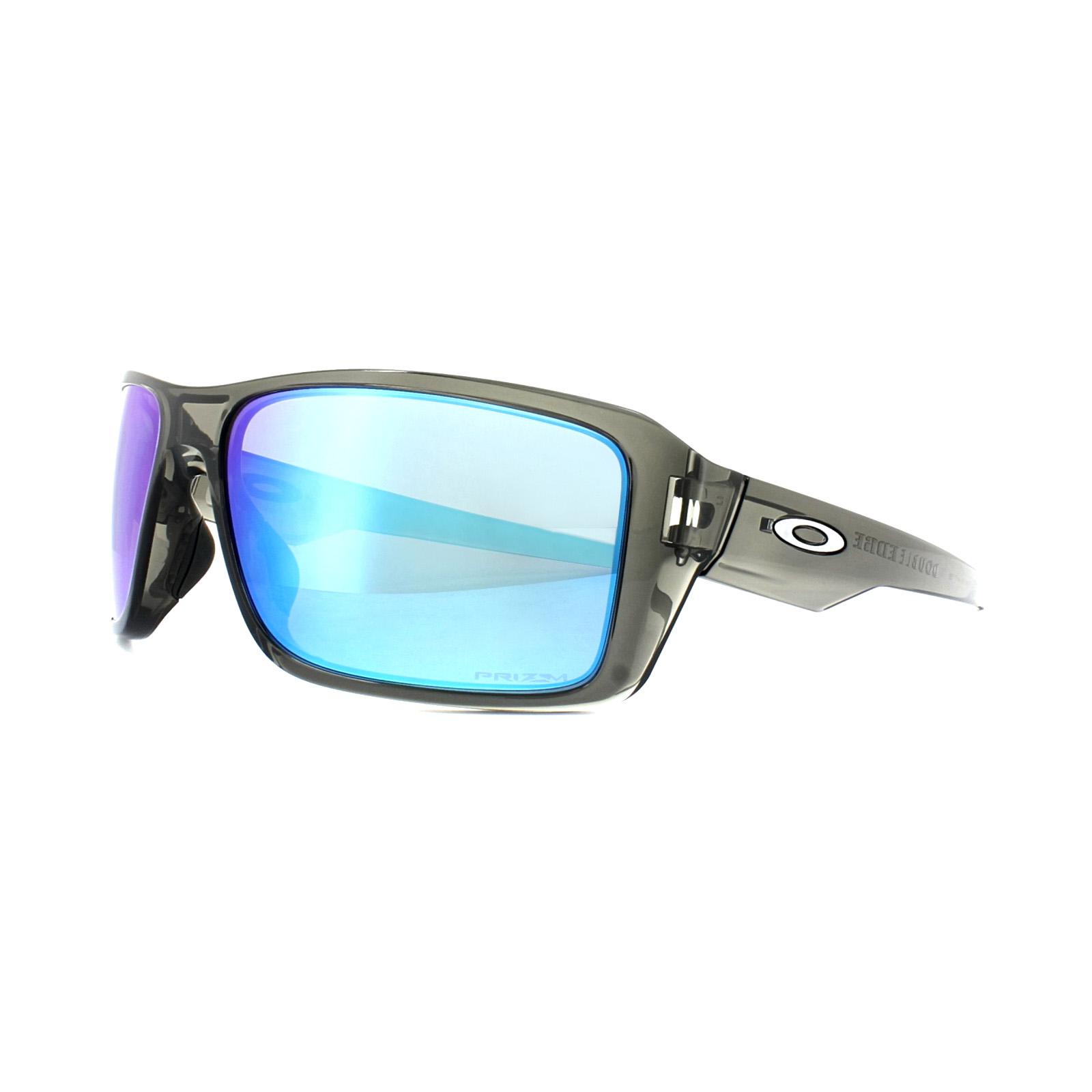 b54ef932f Sentinel Oakley Sunglasses Double Edge OO9380-06 Grey Smoke Prizm Sapphire  Polarized
