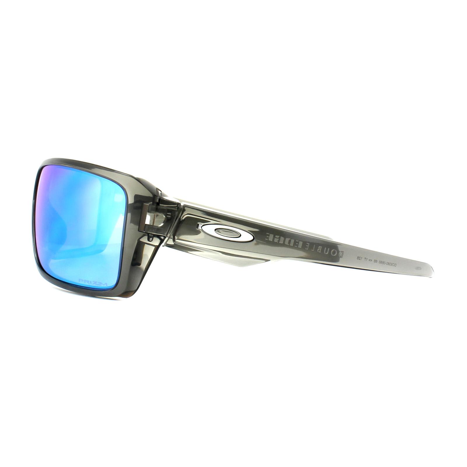 4a0b99815f Sentinel Oakley Sunglasses Double Edge OO9380-06 Grey Smoke Prizm Sapphire  Polarized