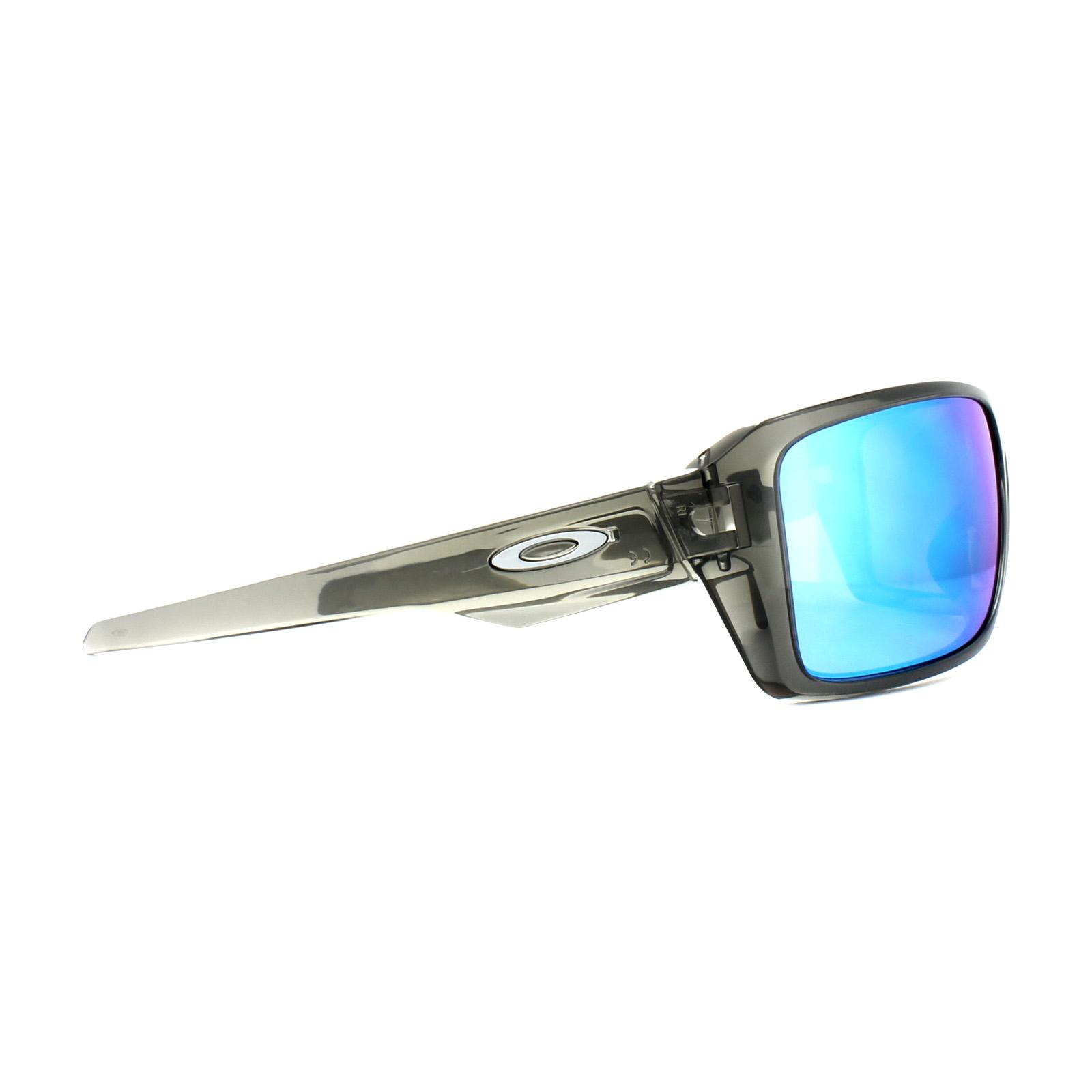 834c1987e8f Sentinel Oakley Sunglasses Double Edge OO9380-06 Grey Smoke Prizm Sapphire  Polarized