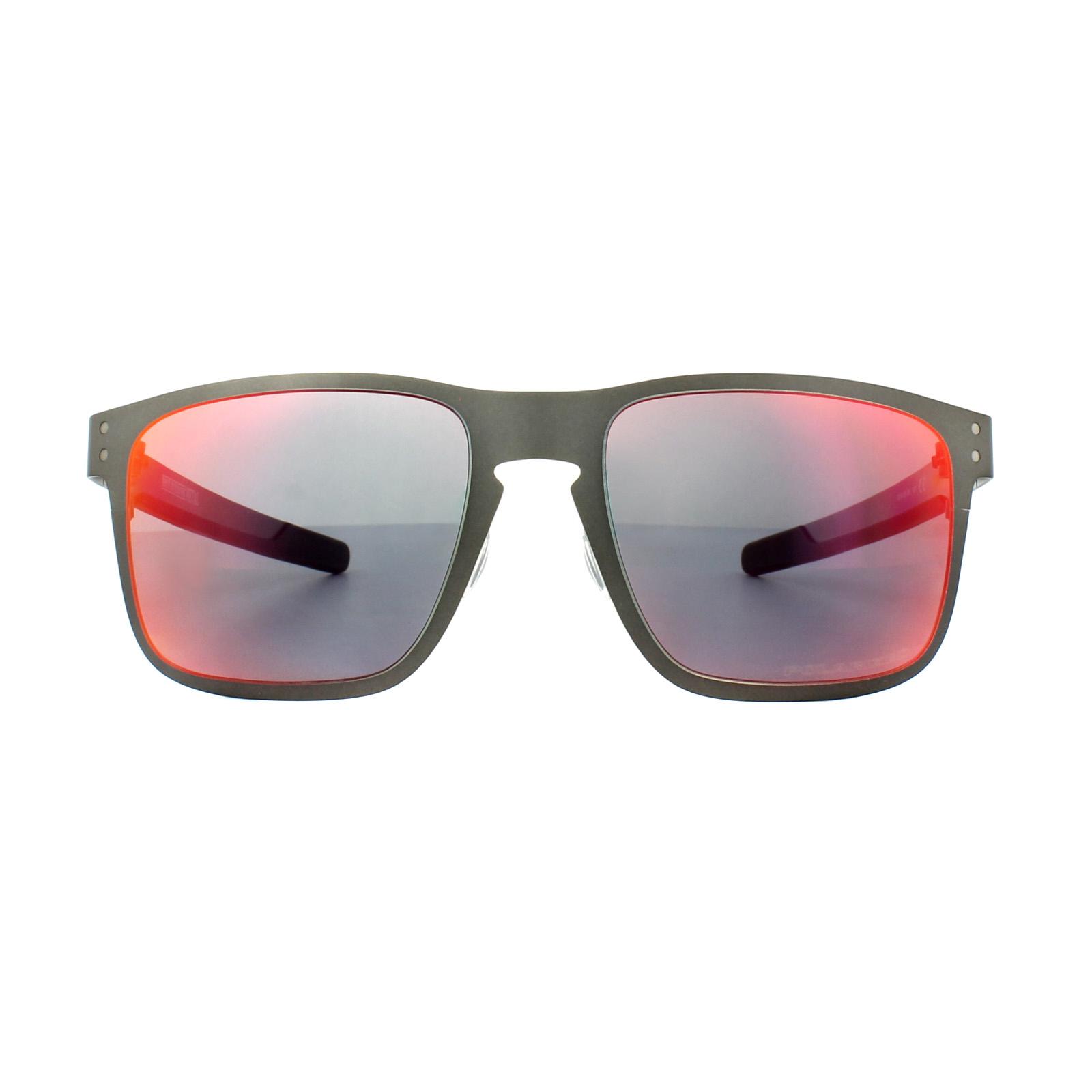 ffff91d54 Sentinel Oakley Sunglasses Holbrook Metal OO4123-05 Matt Gunmetal Torch  Iridium Polarized