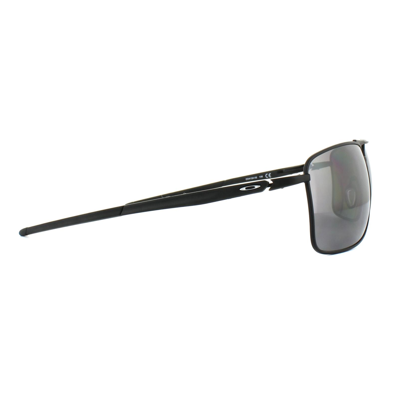 a7637ba3d7 Sentinel Oakley Sunglasses Gauge 8 L OO4124-02 Matt Black Prizm Black  Polarized