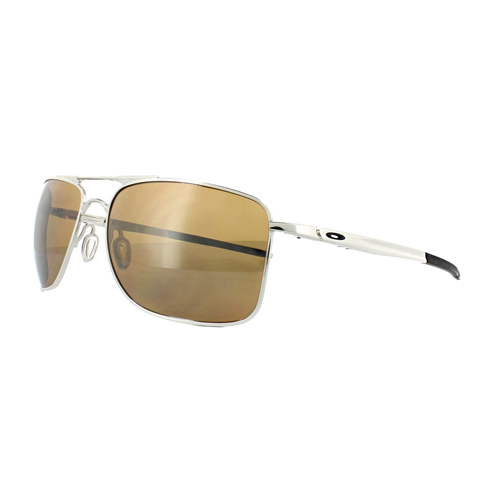 ca2a6b0c96 Sentinel Oakley Sunglasses Gauge 8 L OO4124-05 Polished Chrome Tungsten  Iridium Polarized