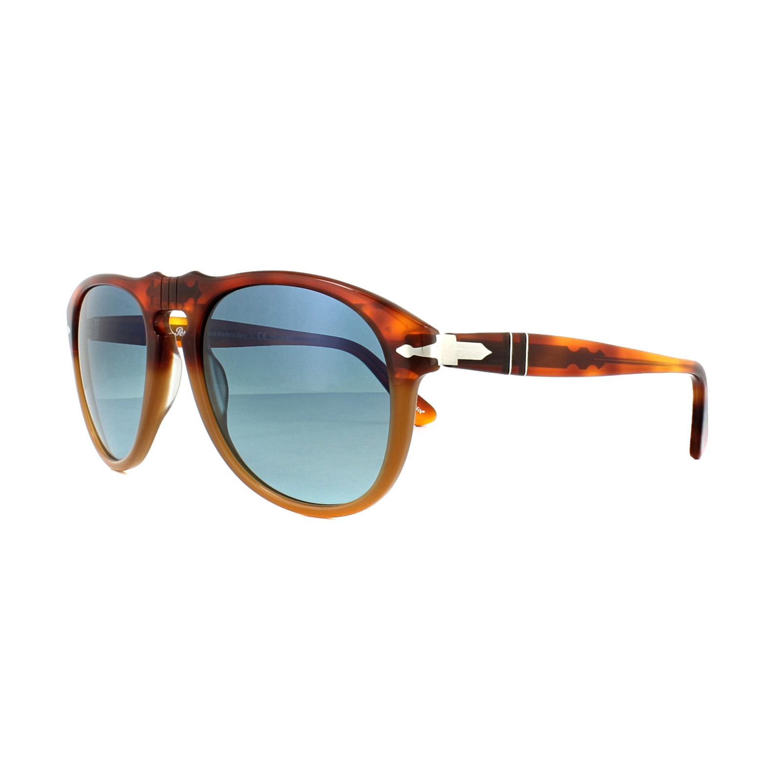 0db4c8945f Sentinel Persol Sunglasses 0649 1025S3 Resina e Sale Brown Blue Polarized  54mm