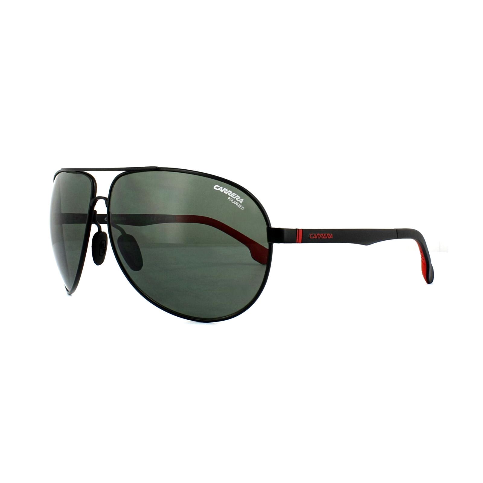 Carrera Eyewear Herren Sonnenbrille » CARRERA 8023/S«, schwarz, 003/UC - schwarz/grün