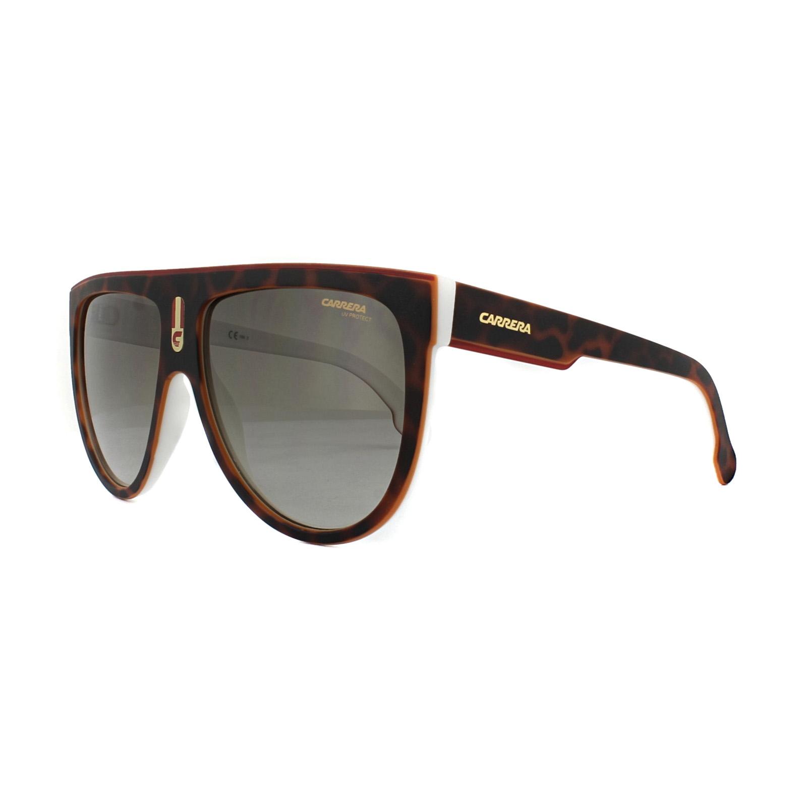 e08aaa99878 Sentinel Carrera Sunglasses Flagtop C9K HA Orange Havana White Brown  Gradient