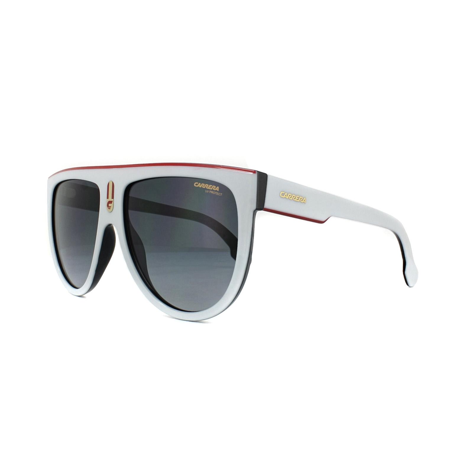 9ba5314573ca0 Carrera Sunglasses Flagtop CCP 9O White Grey Gradient 762753641571 ...