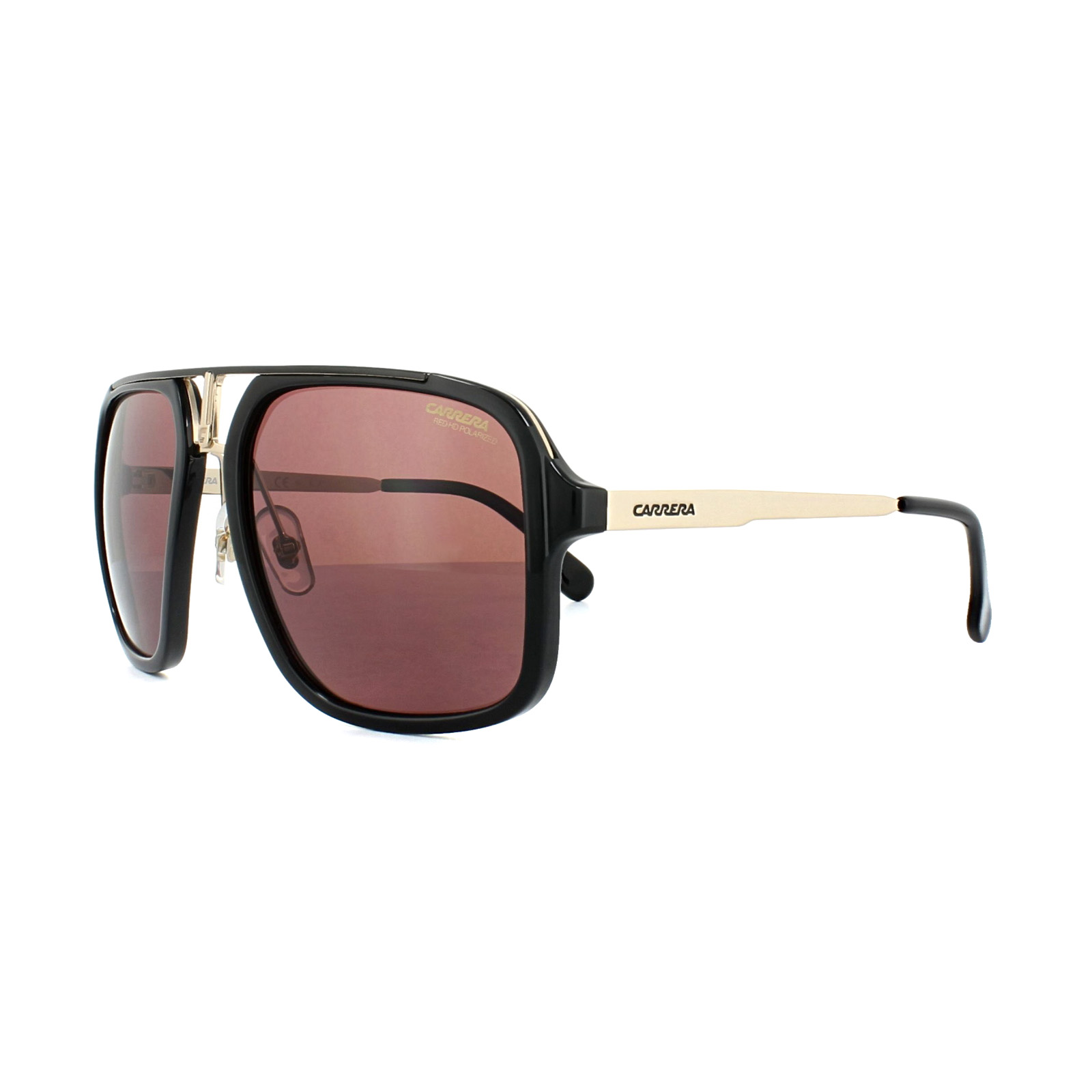 Carrera Sunglasses 1004/S 2M2 W6 Black Gold Dark Pink Polarized ...