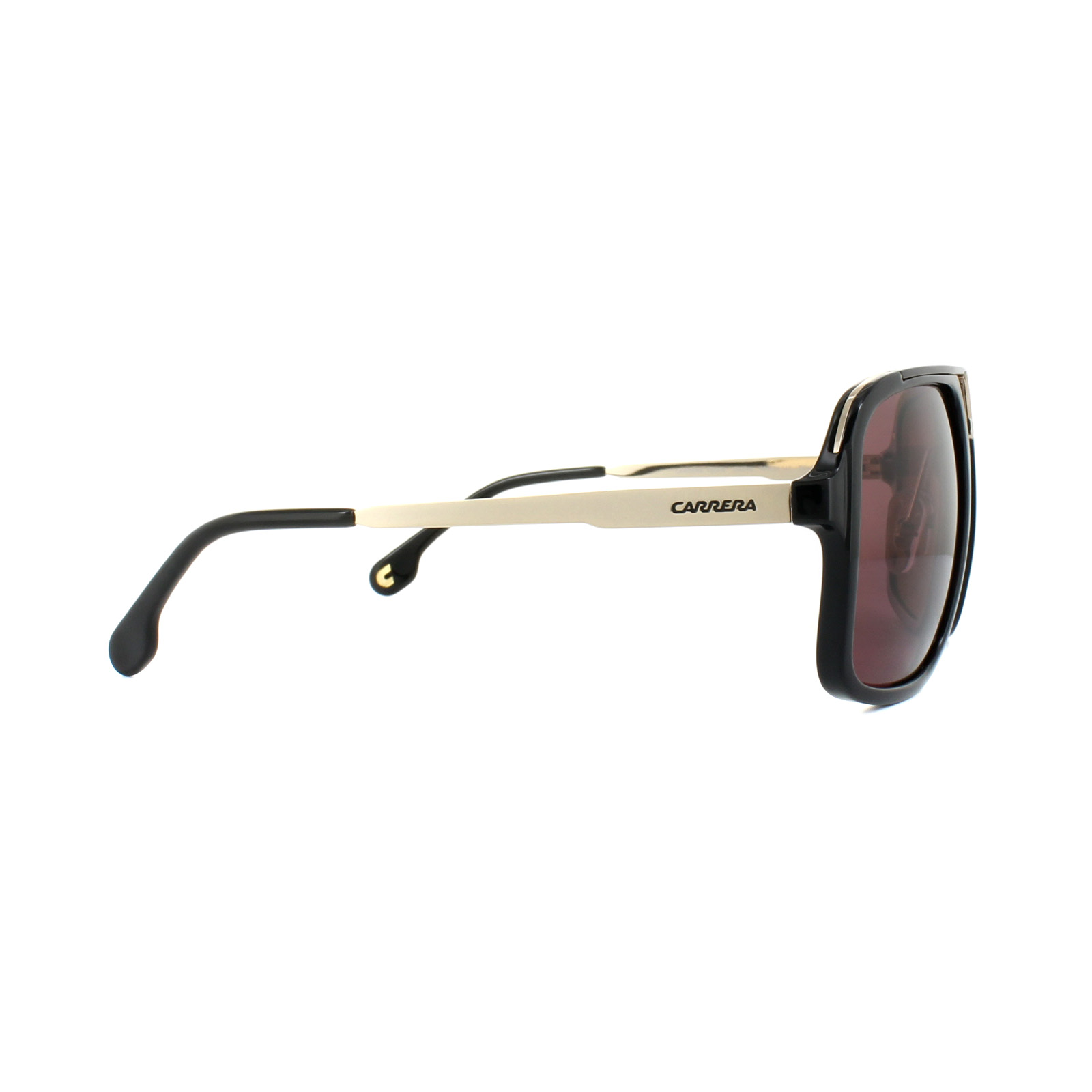 43acf1680b0 Sentinel Carrera Sunglasses 1004 S 2M2 W6 Black Gold Dark Pink Polarized