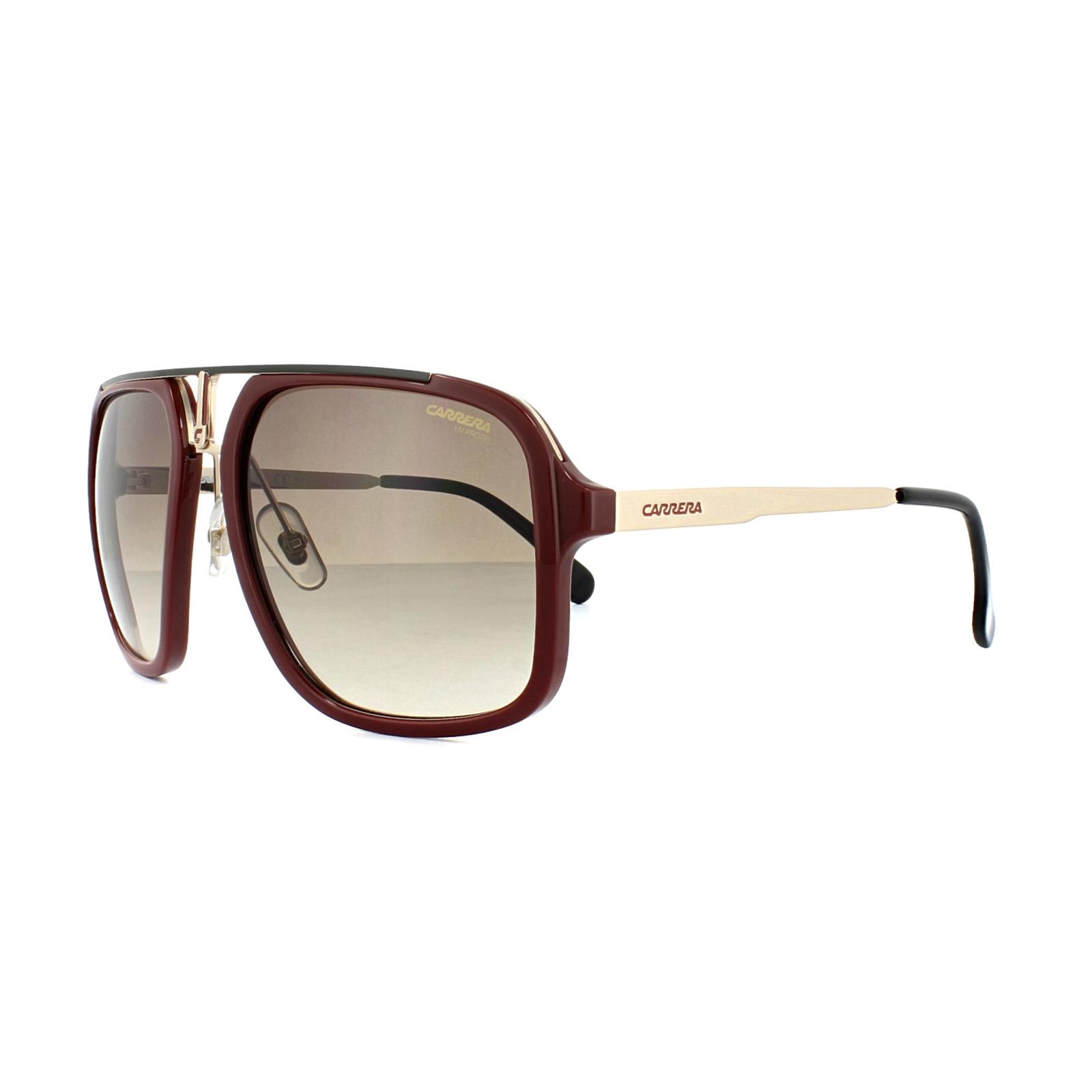 ed9b4f6c941e Sentinel Carrera Sunglasses 1004/S AU2 HA Red Black Gold Brown Gradient