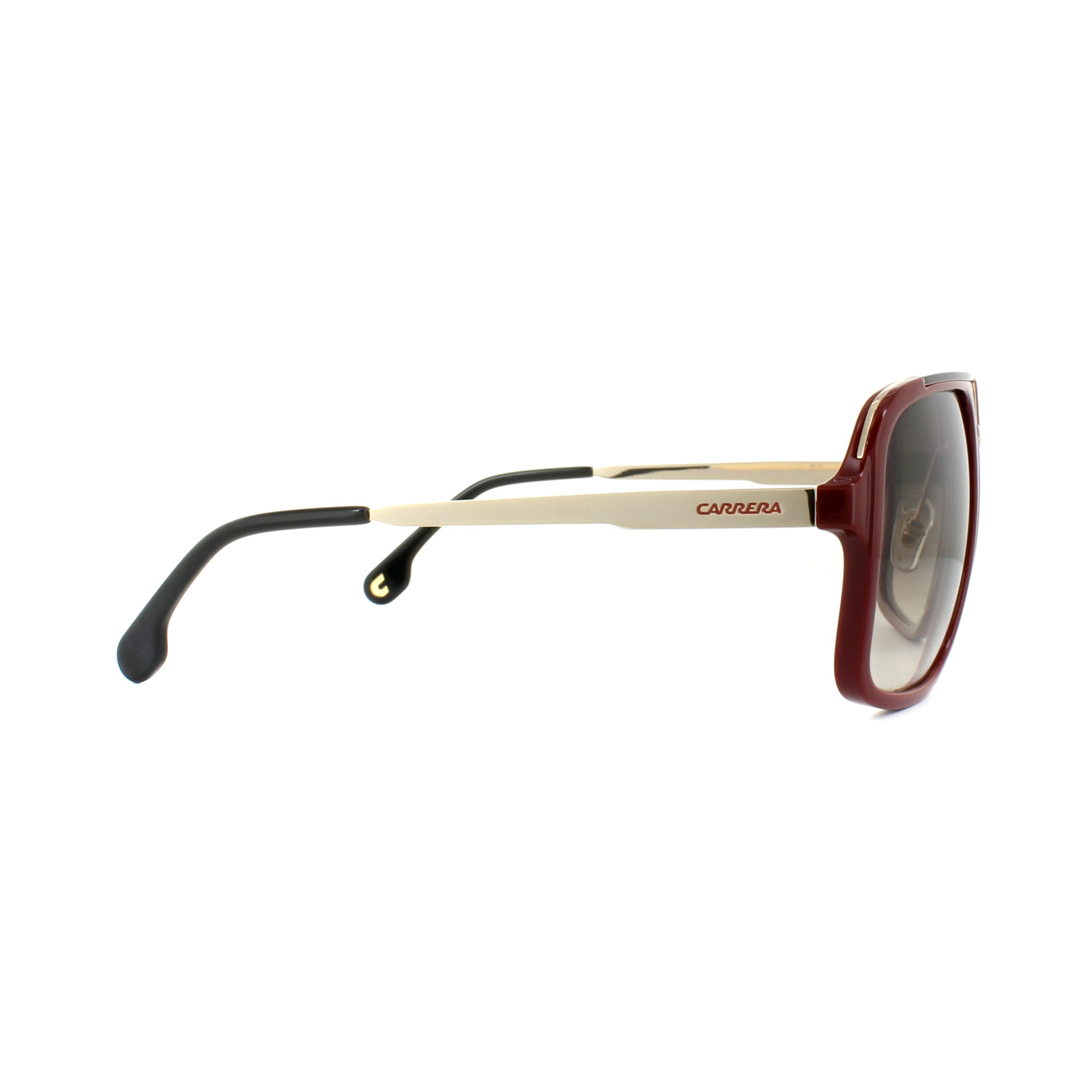 6b7a235ef6e9e2 Sentinel Carrera Sunglasses 1004 S AU2 HA Red Black Gold Brown Gradient