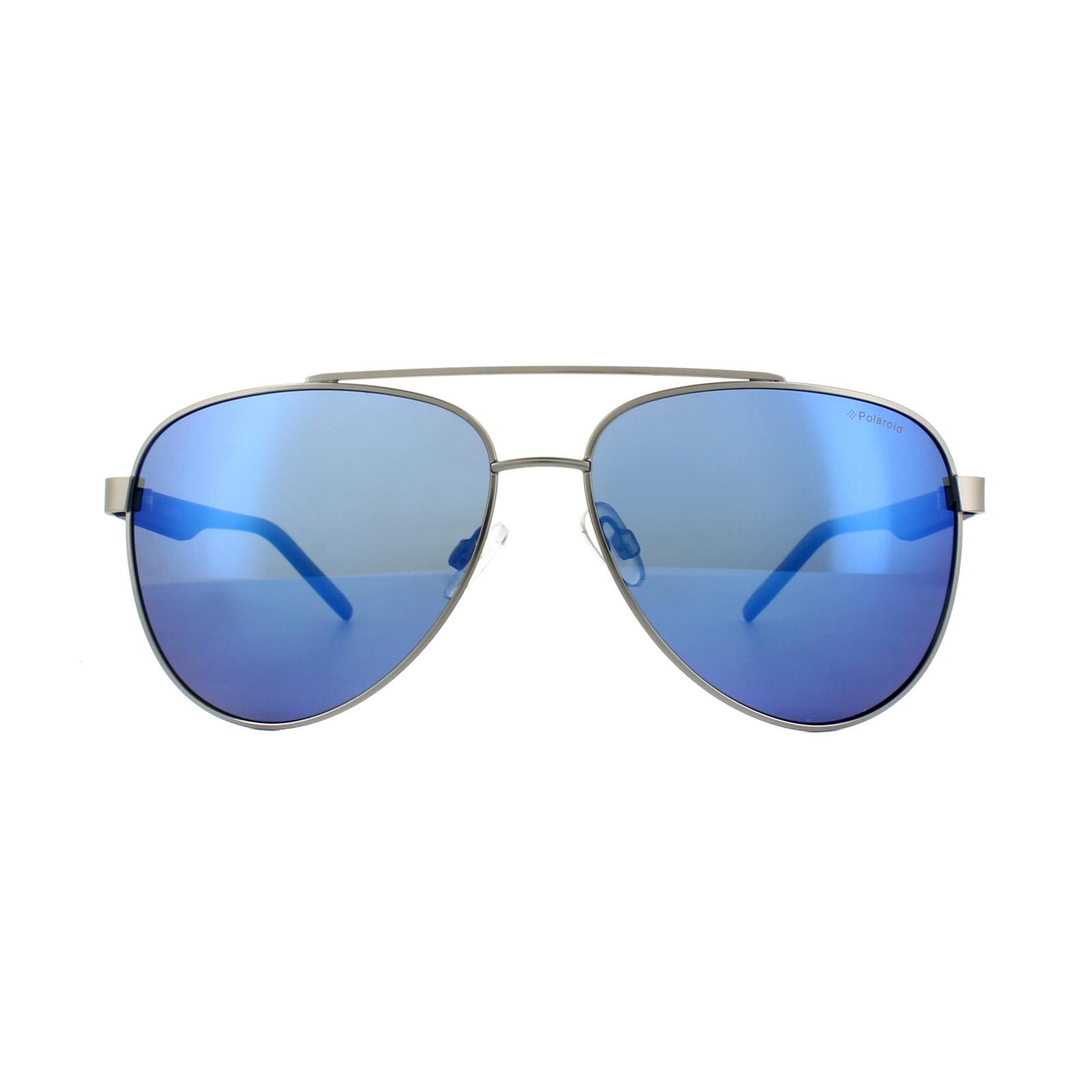 c413acd8d5126 Sentinel Polaroid Sunglasses PLD 2043 S R80 5X Silver Matt Blue Blue Mirror  Polarized