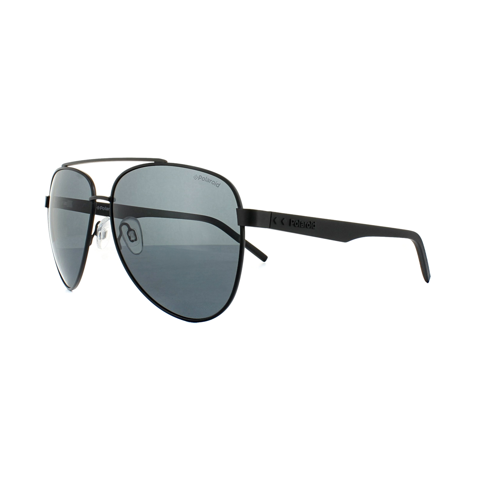Sentinel Polaroid Sunglasses PLD 2043/S 807 M9 Black Grey Polarized