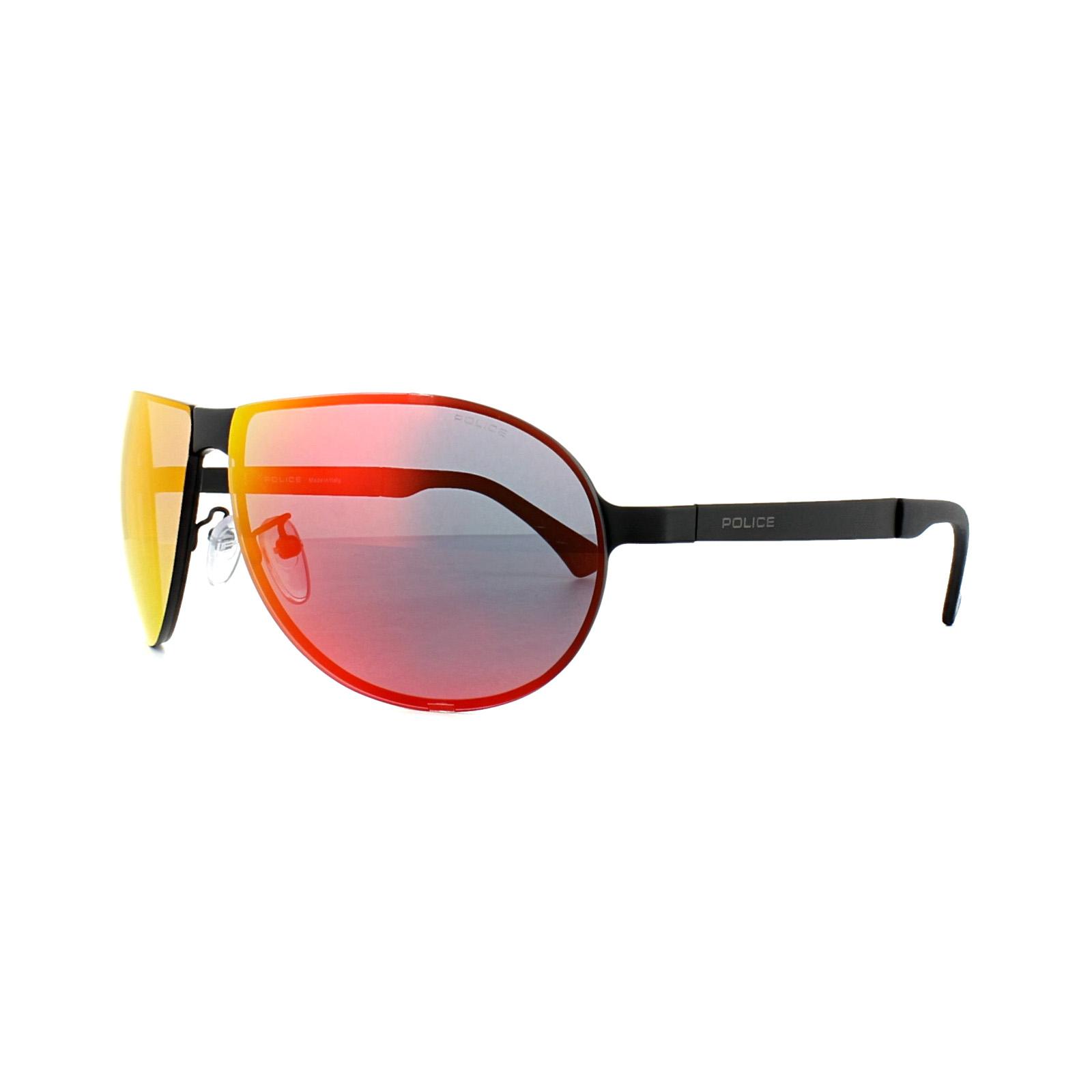 dbfa5ed5b Sentinel Police Sunglasses S8843 Cube 4 531R Matt Black Grey Mirror Red