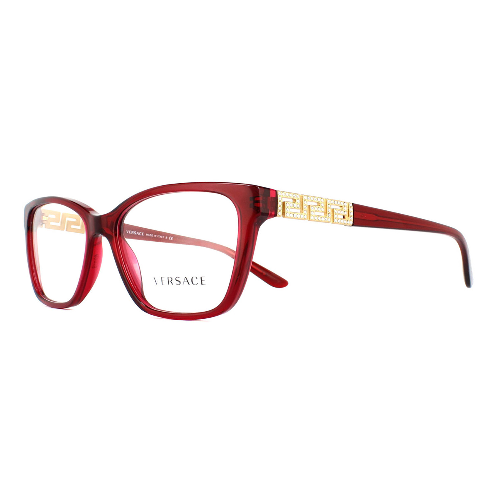 77e655ed1208 Versace Black Frame Glasses With Gold Detail For Sale In Versace Eyewear  Frames: Cheap Versace 3192B Glasses Frames
