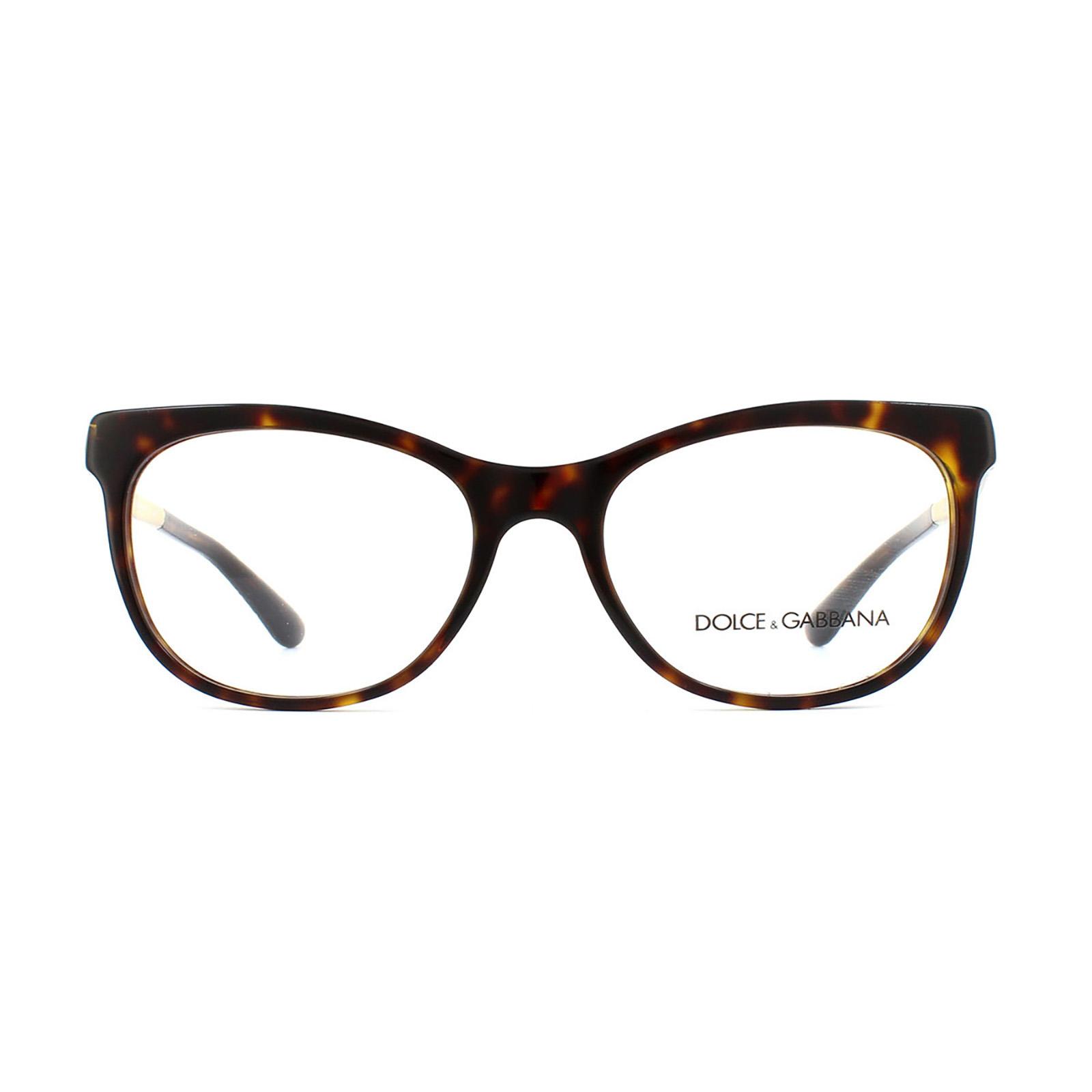 Dolce and Gabbana Glasses Frames 3234 502 Dark Havana Womens 54mm | eBay