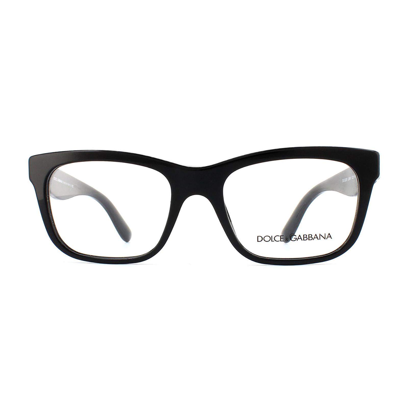 fa3cc694a18e Sentinel Dolce and Gabbana Glasses Frames 3239 2998 Top Black Texture  Tissue Womens 52mm