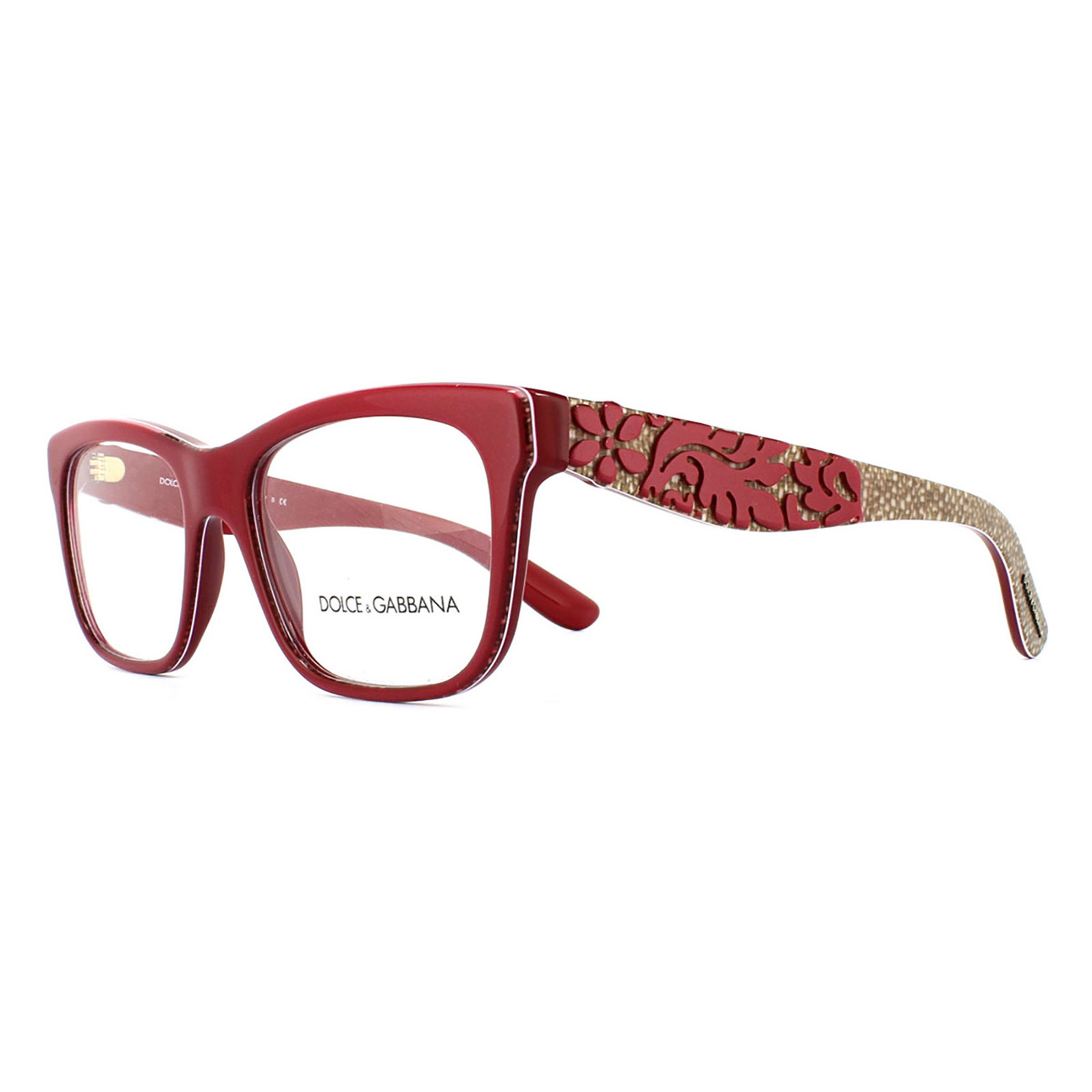 dolce and gabbana glasses frames 3239 2999 top red texture tissue womens 50mm - Dolce And Gabbana Glasses Frames