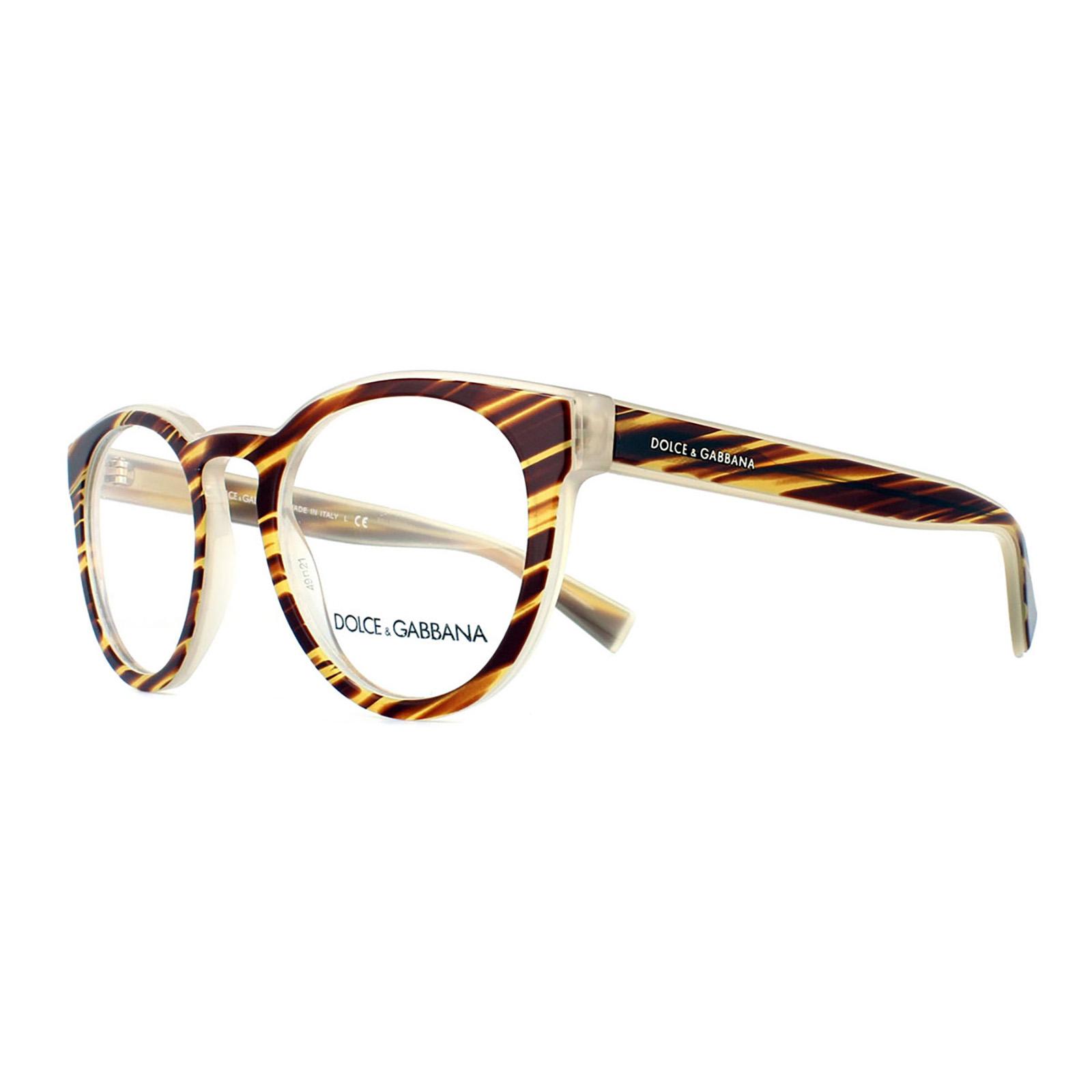 sentinel dolce and gabbana glasses frames 3251 3052 striped honey men 49mm - Dolce And Gabbana Glasses Frames