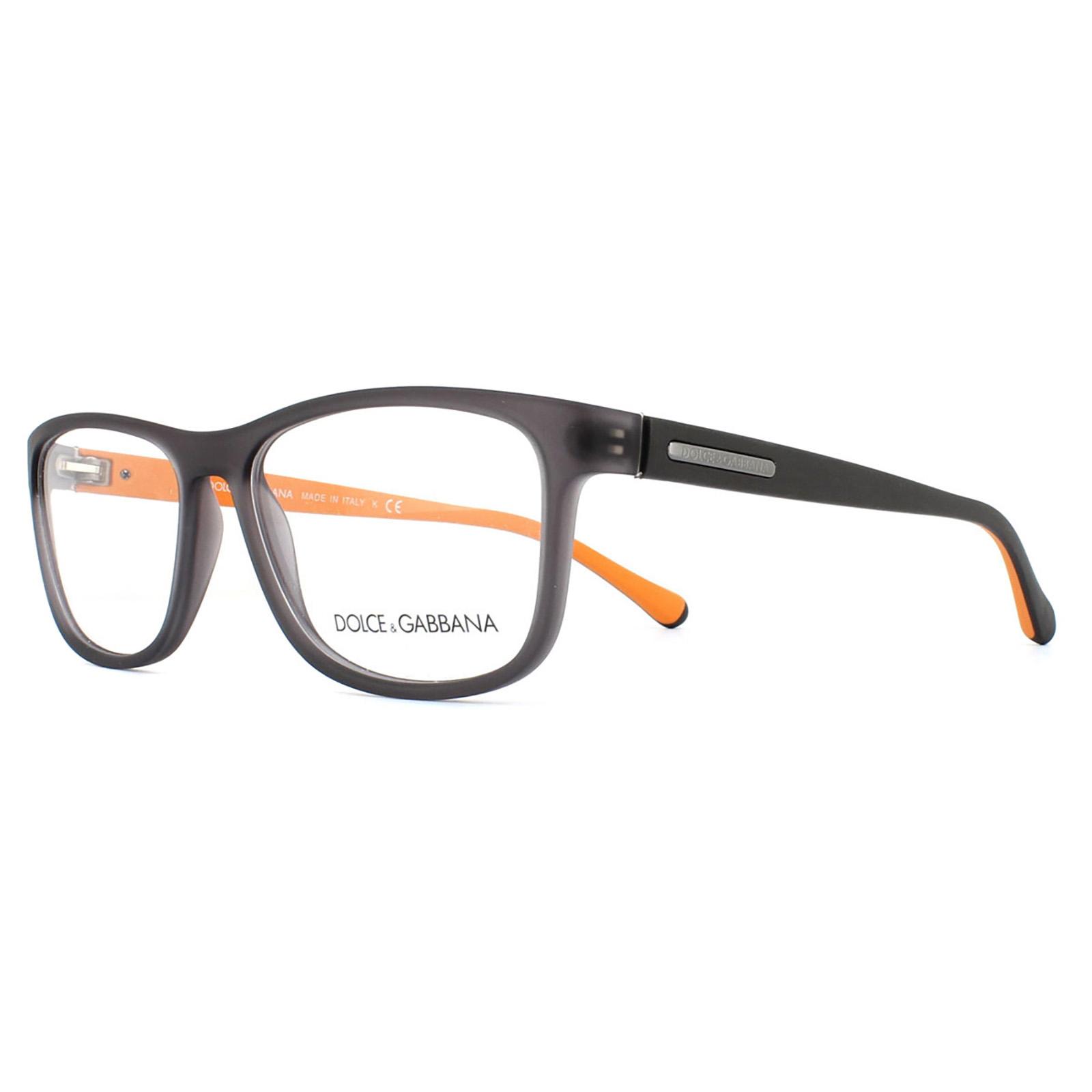sentinel dolce and gabbana glasses frames 5003 2813 grey demi transp rubber men 54mm - Dolce And Gabbana Glasses Frames