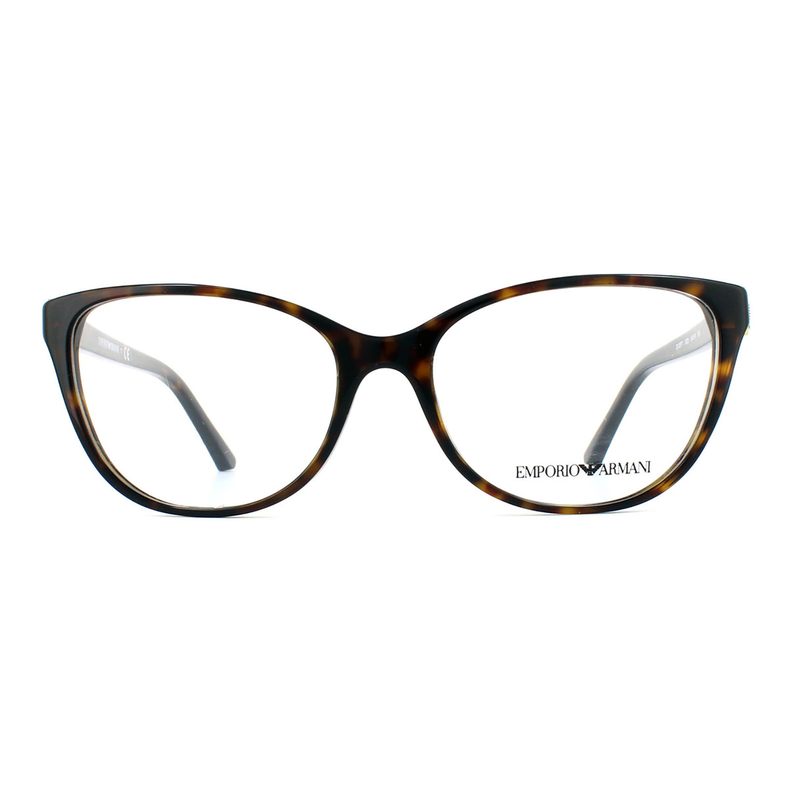 Emporio Armani Glasses Frames 3077 5026 Havana Womens 52mm | eBay