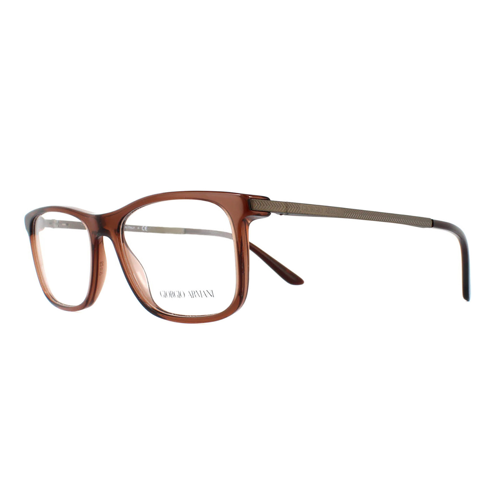 9f3346eb261 Sentinel Giorgio Armani Glasses Frames 7087 5438 Transparent Brown Men 52mm
