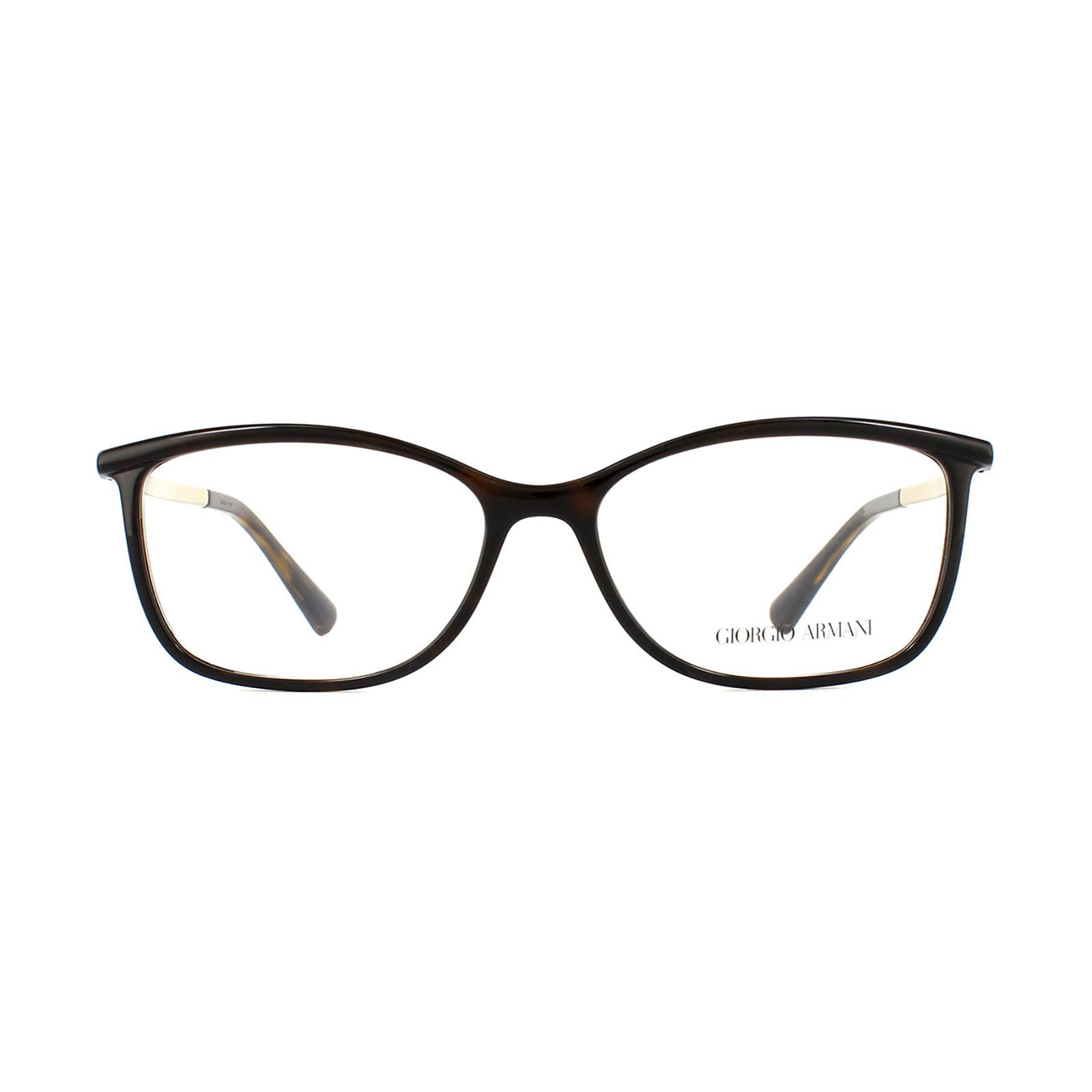 Giorgio Armani Glasses Frames 7093 5026 Havana Womens 53mm | eBay
