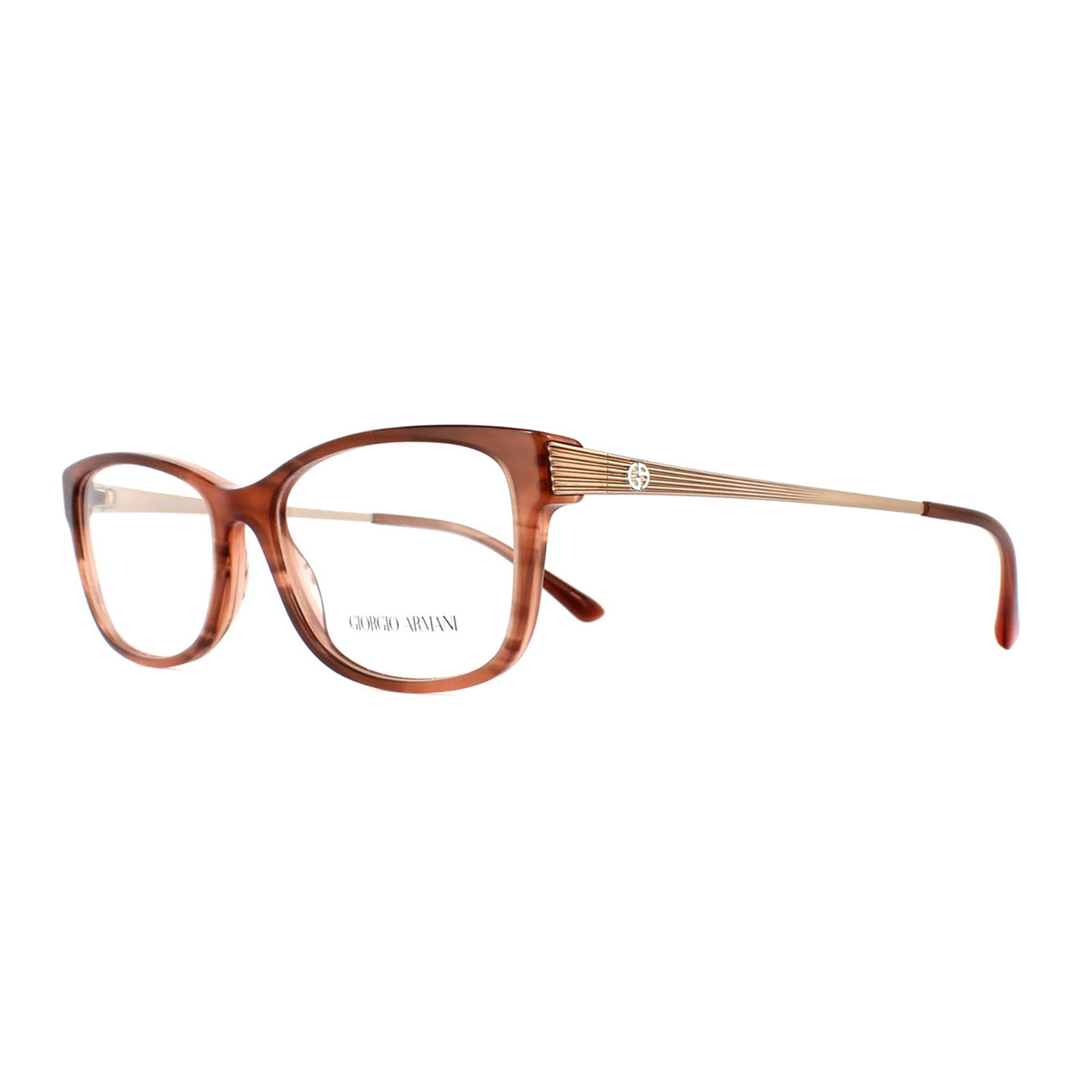 Giorgio Armani Glasses Frames 7098 5488 Striped Brown Womens 54mm | eBay