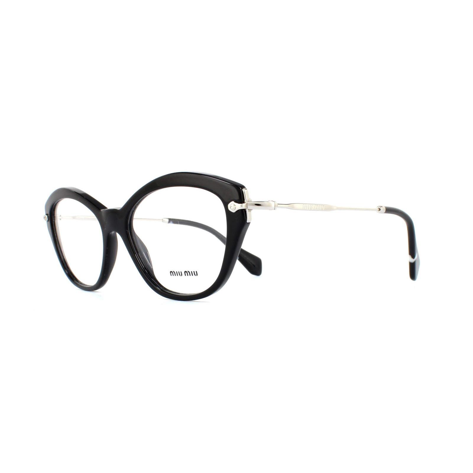be68e60857 Sentinel Miu Miu Glasses Frames 02OV 1AB1O1 Black Womens 54mm