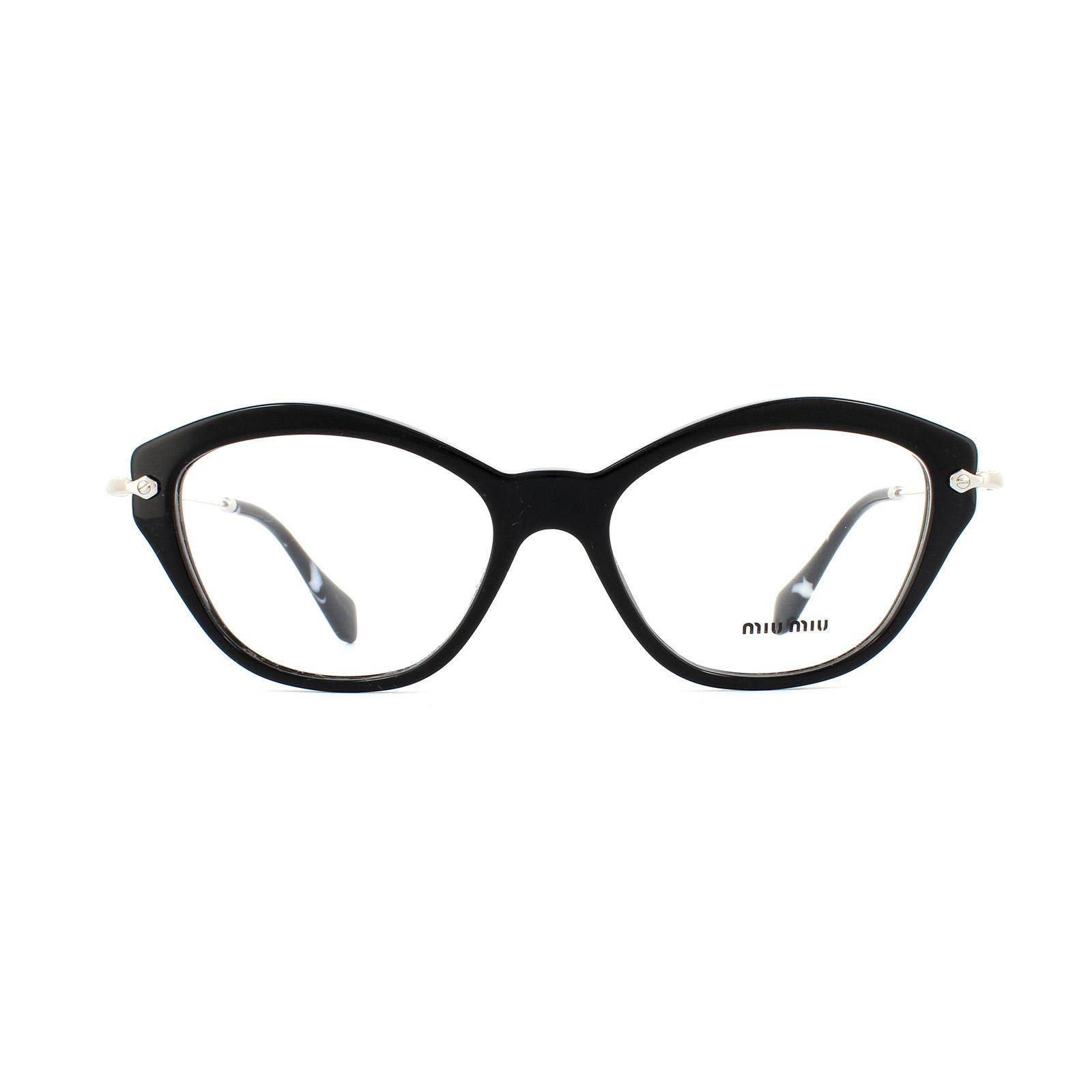 sentinel miu miu glasses frames 02ov 1ab1o1 black womens 54mm - Miu Miu Optical Frames