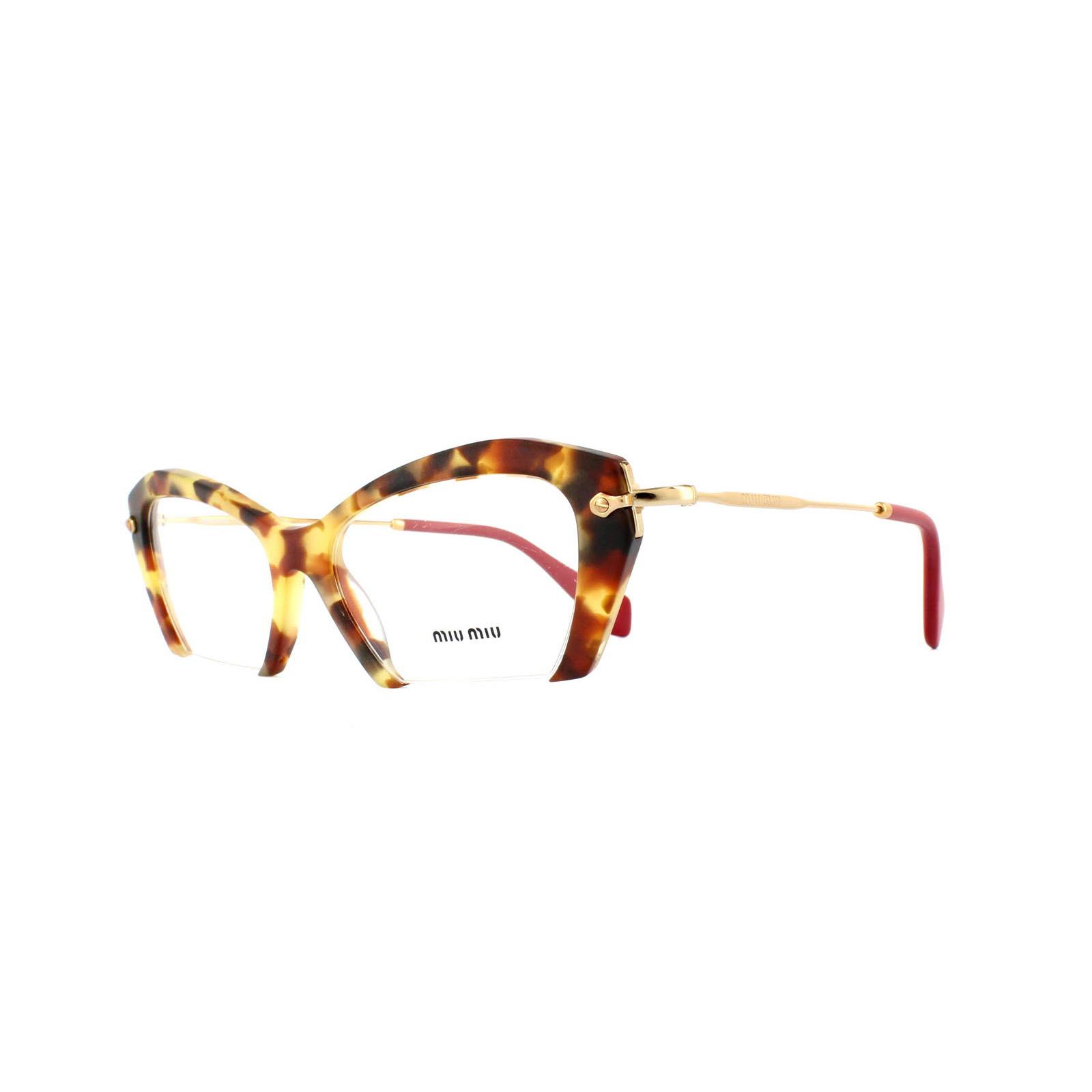 sentinel miu miu glasses frames 03ov ua51o1 medium havana womens 53mm - Miu Miu Glasses Frames