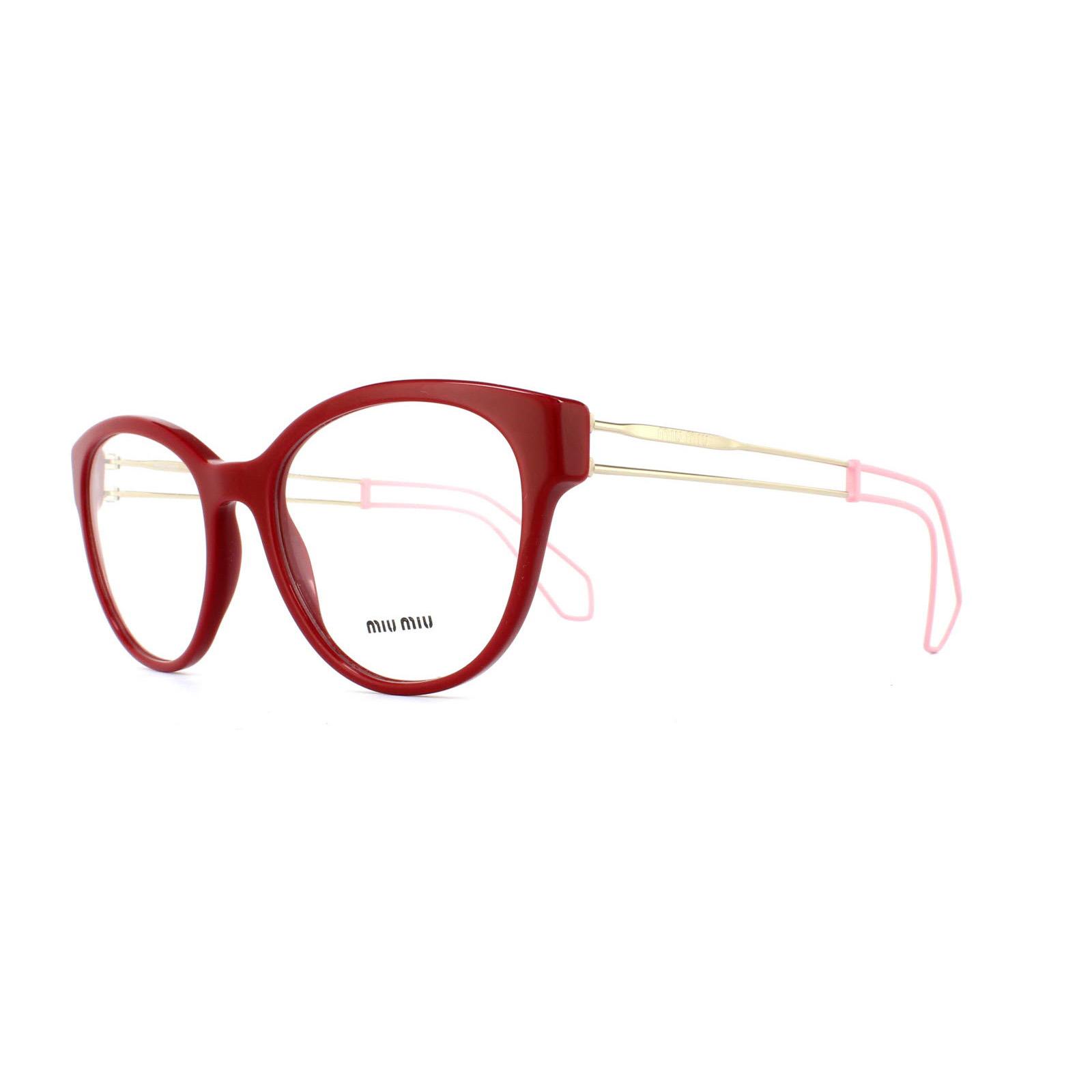 a4715ff039 Miu Glasses Frames 03pv Usl1o1 Red Womens 52mm
