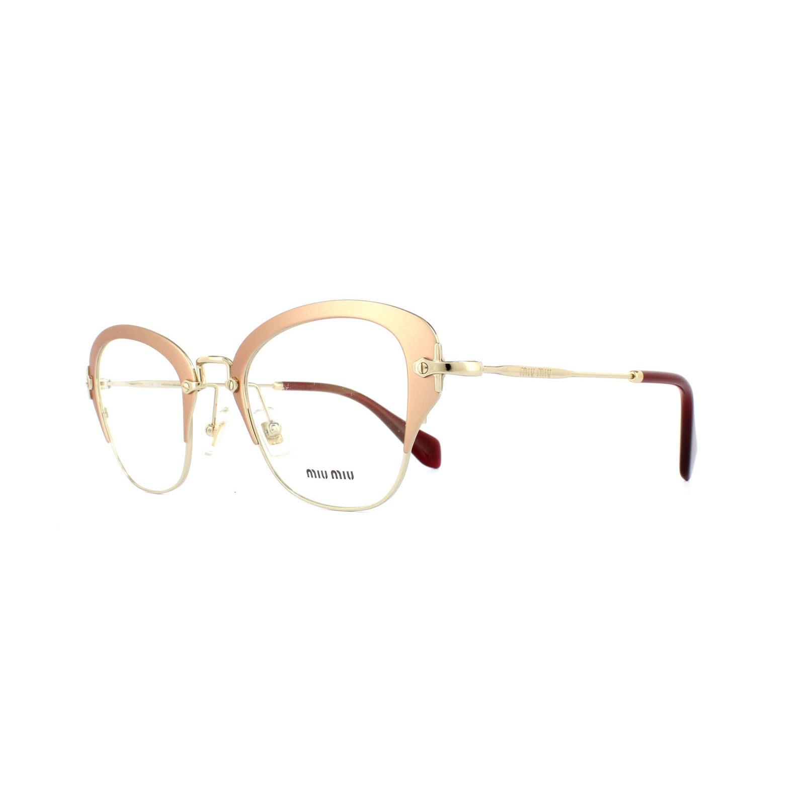 ecf8f2f0a3658 Sentinel Miu Miu Glasses Frames 53OV UF01O1 Matte Pink Womens 50mm