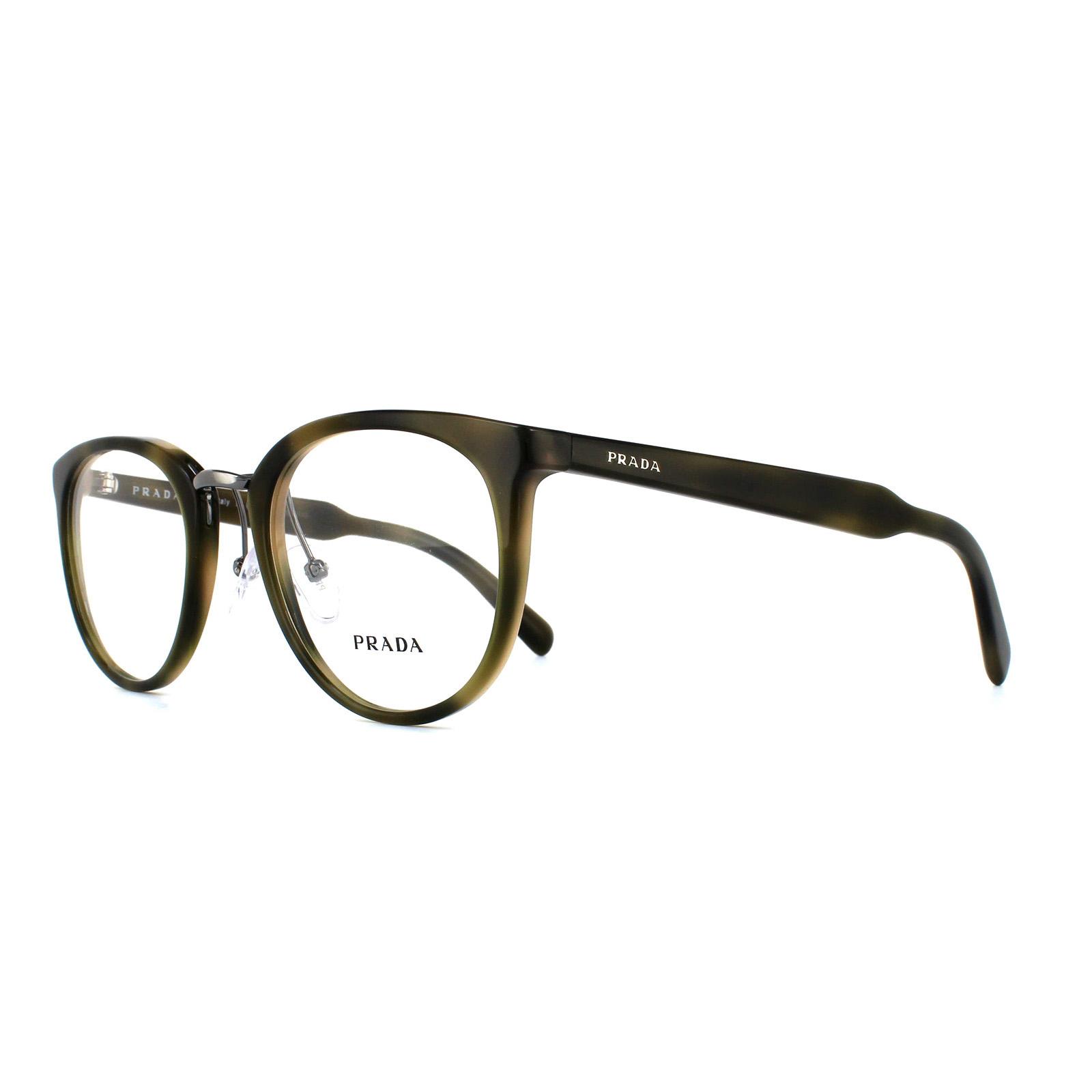 811c6b1c1437 Sentinel Prada Glasses Frames 03TV U6A1O1 Striped Green Mens Womens 52mm