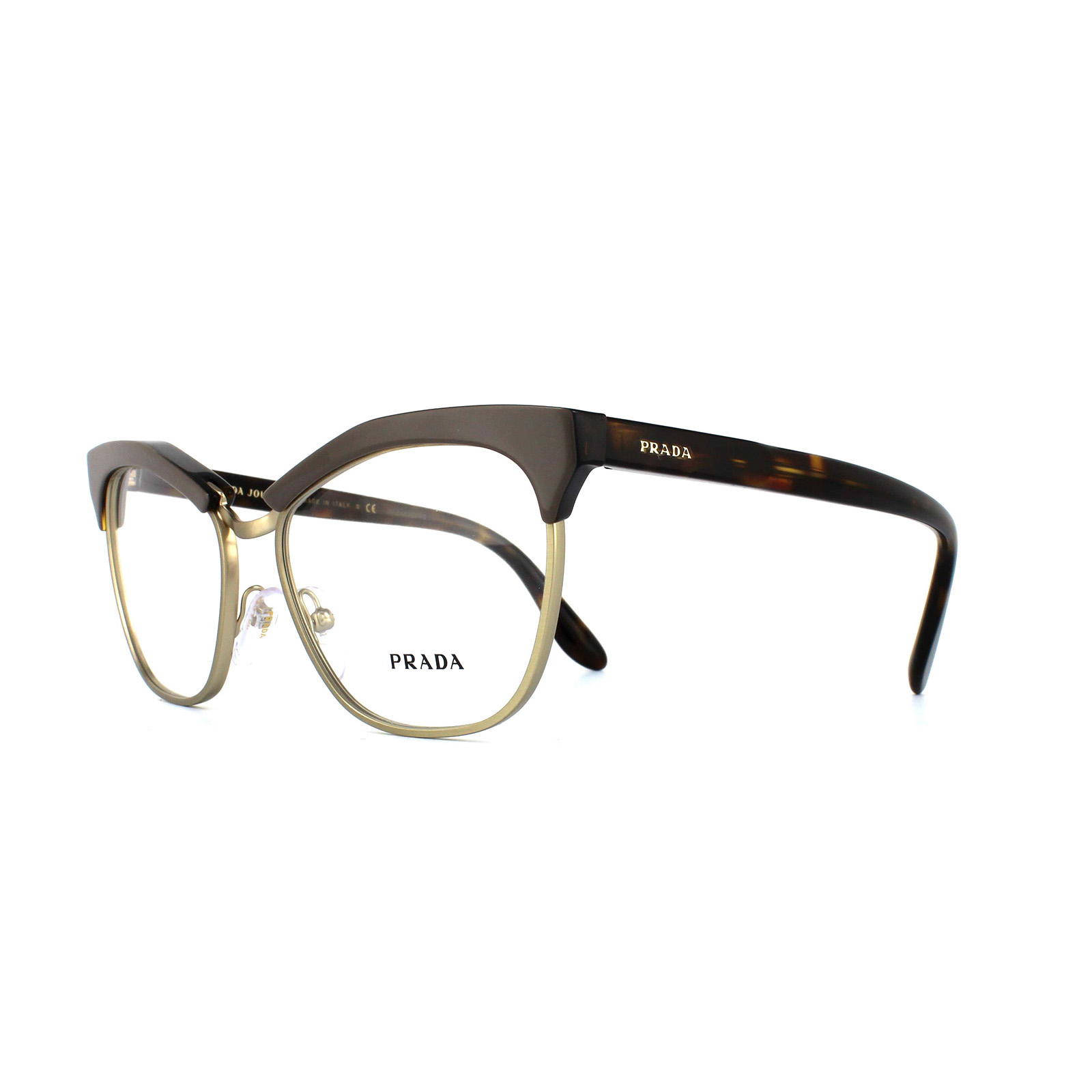 68908bf7640b Sentinel Prada Glasses Frames 14SV TFL1O1 Brown Havana Womens 55mm