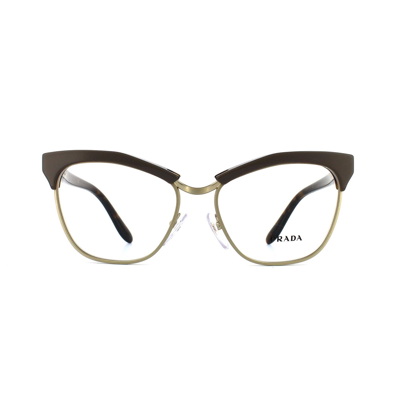 410bfe7a5bd4e Sentinel Prada Glasses Frames 14SV TFL1O1 Brown Havana Womens 55mm