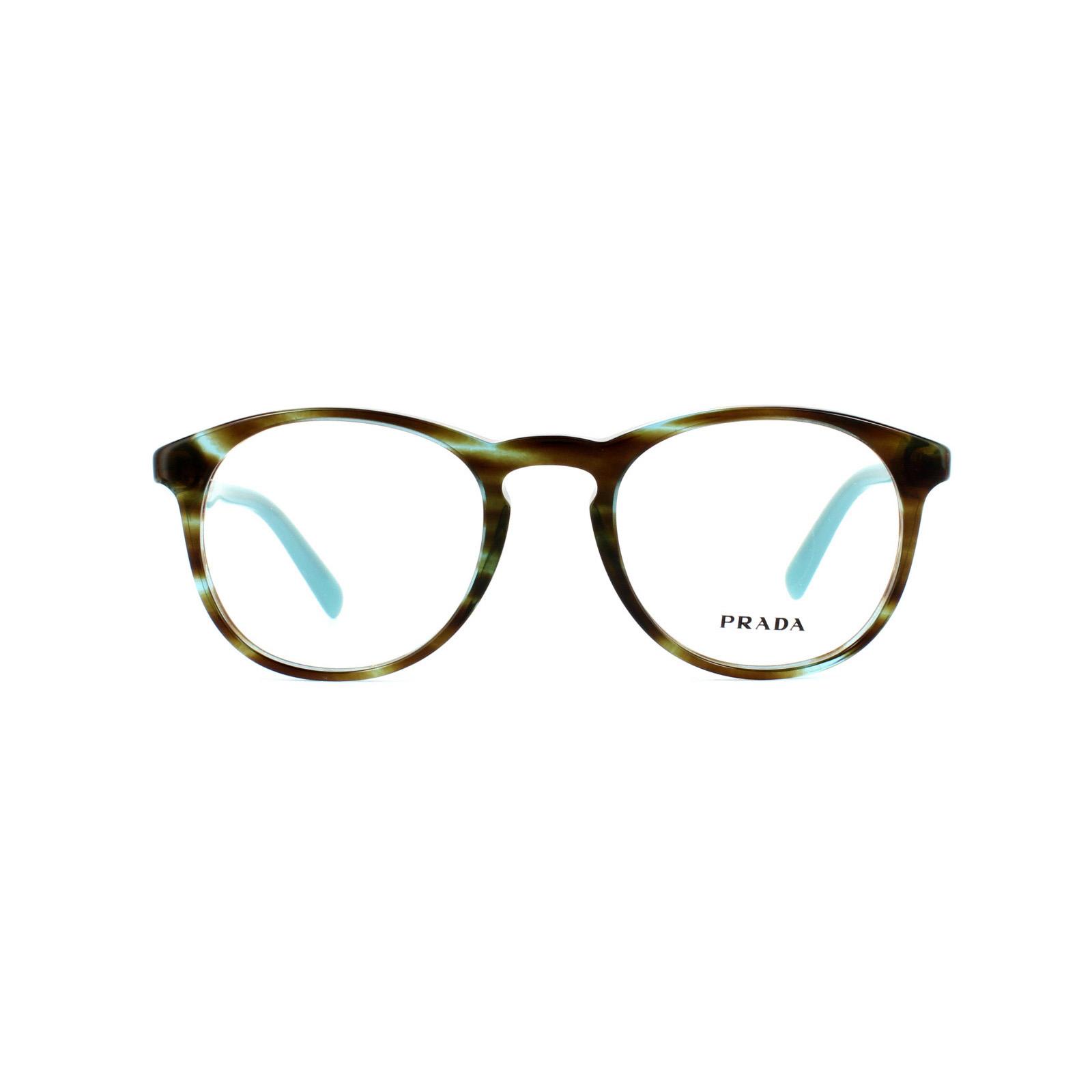 37706ca9d9396 Sentinel Prada Glasses Frames 19SV UEN1O1 Havana Blue Azure Mens Womens 48mm