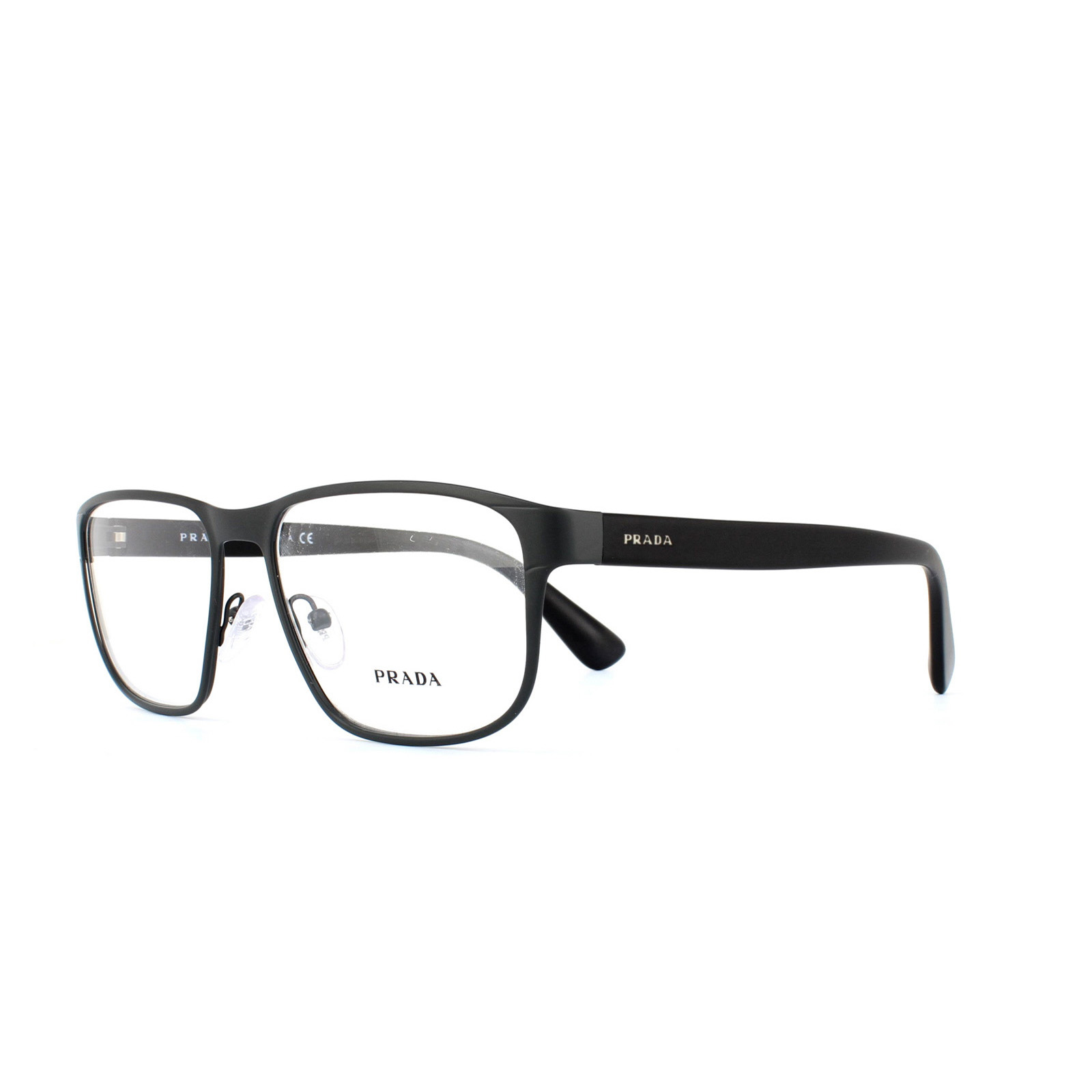 Sentinel Prada Glasses Frames 56SV TKM1O1 Matte Grey Men 55mm