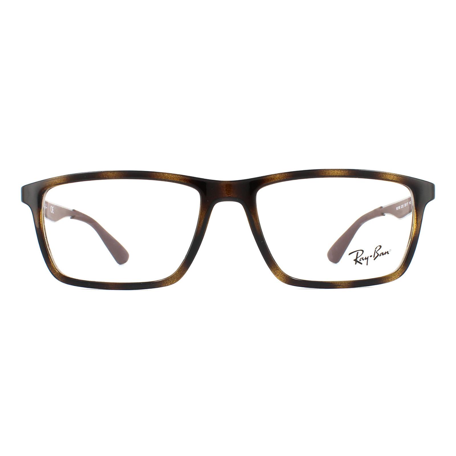 Ray-Ban Glasses Frames 7056 2012 Shiny Havana Men 53mm | eBay
