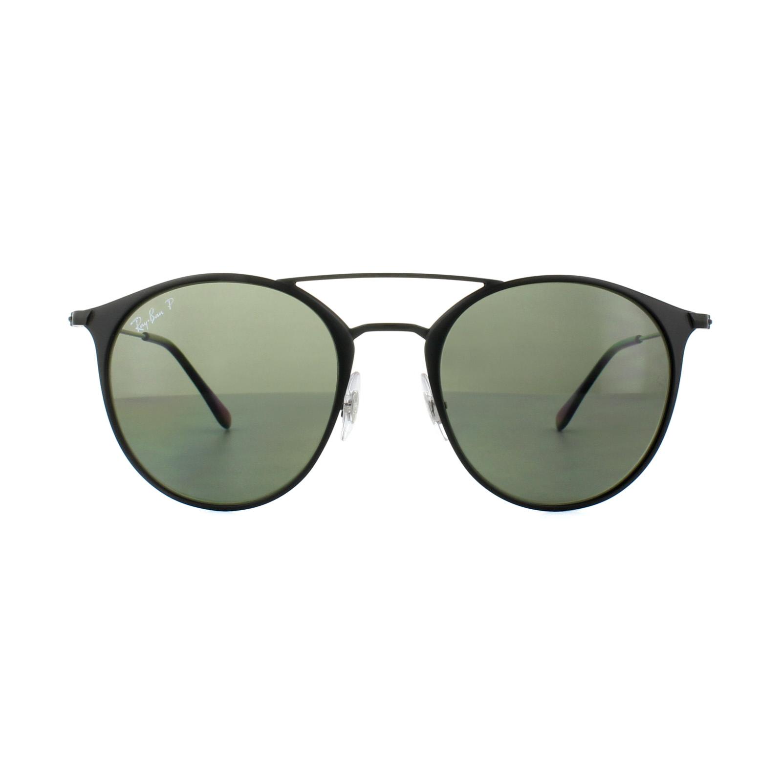 5b7e26434a7 Ray-Ban Sunglasses 3546 186 9A Black Green Polarized 8053672672428 ...