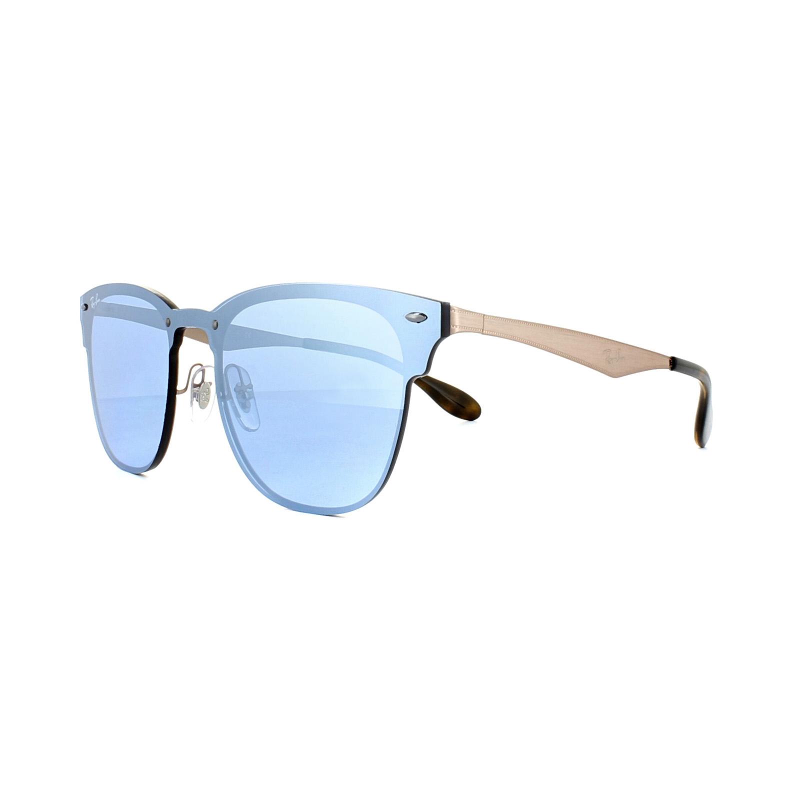 4833bd9c71 Sentinel Ray-Ban Sunglasses Blaze Clubmaster 3576N 90391U Copper Violet  Silver Mirror