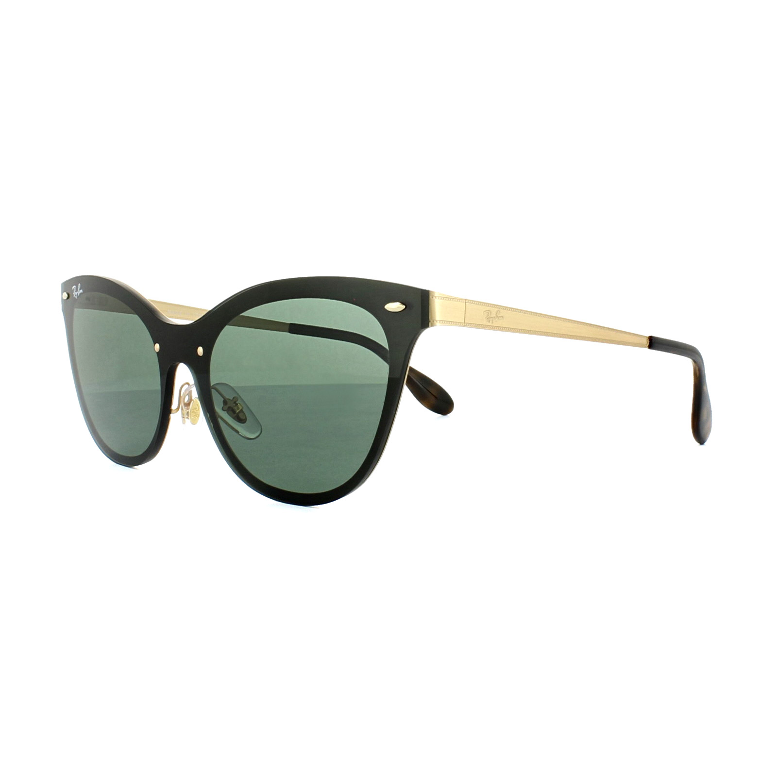 5fb15aa49da5c Sentinel Ray-Ban Sunglasses Blaze Cat Eye 3580N 043 71 Gold Green