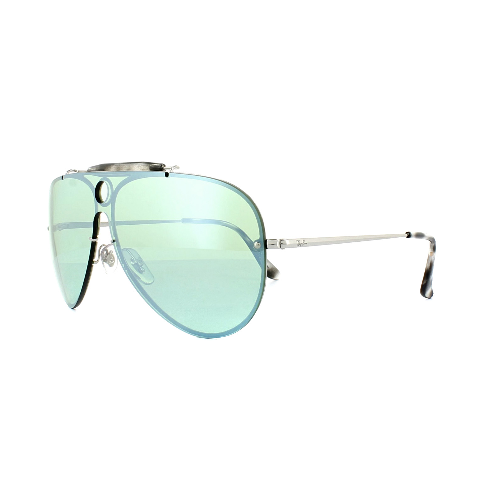 4bbdf09ee1697 Sentinel Ray-Ban Sunglasses Blaze Shooter 3581N 003 30 Silver Dark Green  Silver Mirror